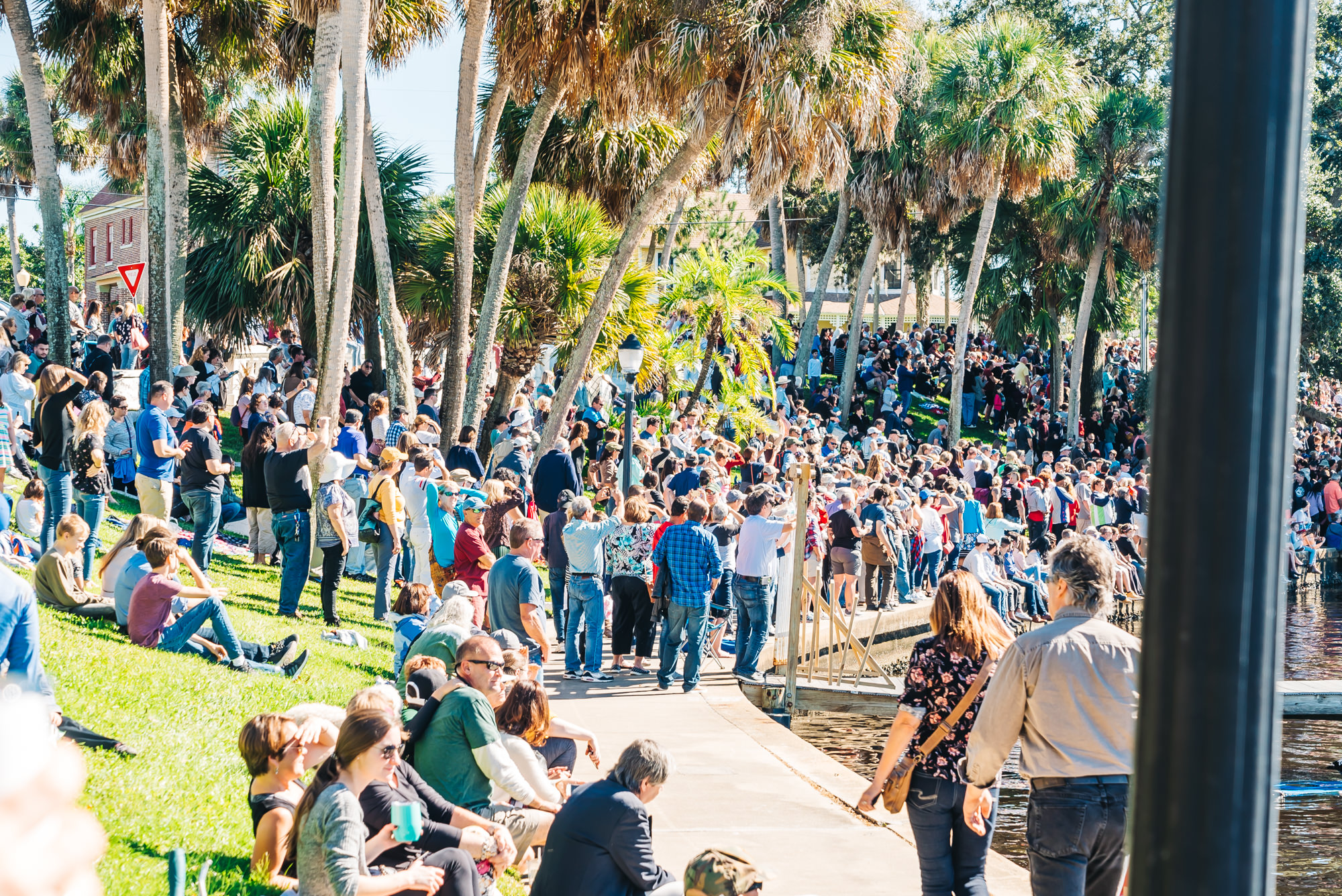 Thousands of people at Spring Bayou in Tarpon Springs for Ephiphany