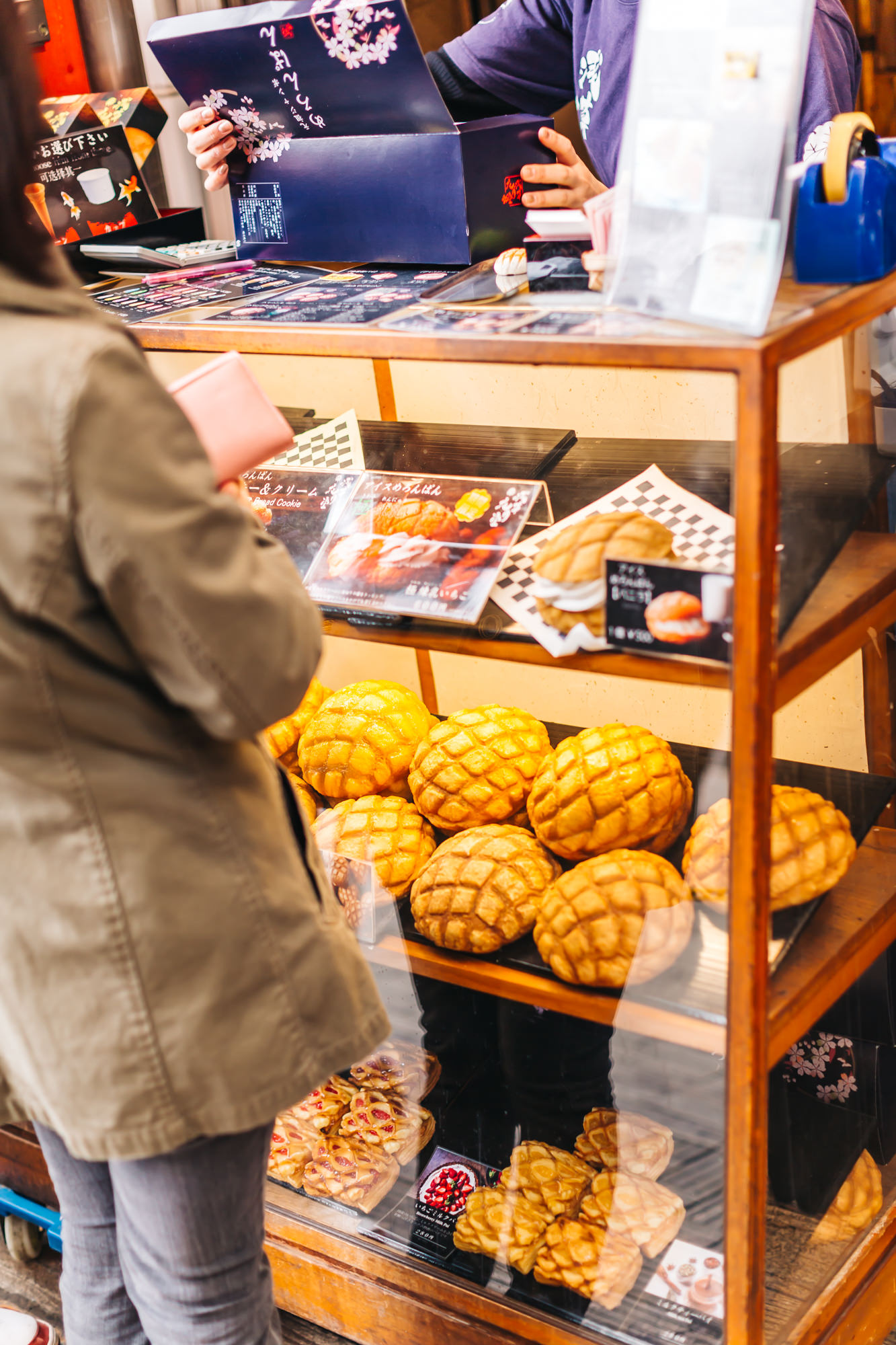Huge melon pans at Kagetsudo