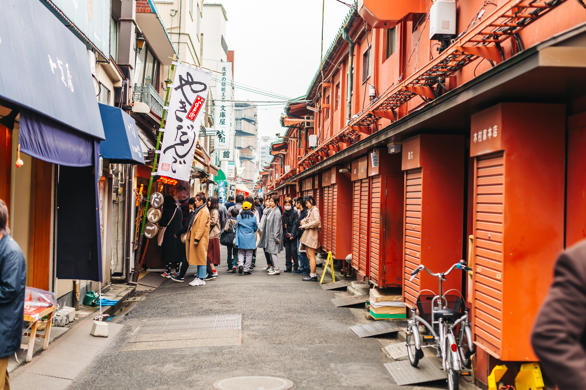 The back alley of Nakamise Shopping Street