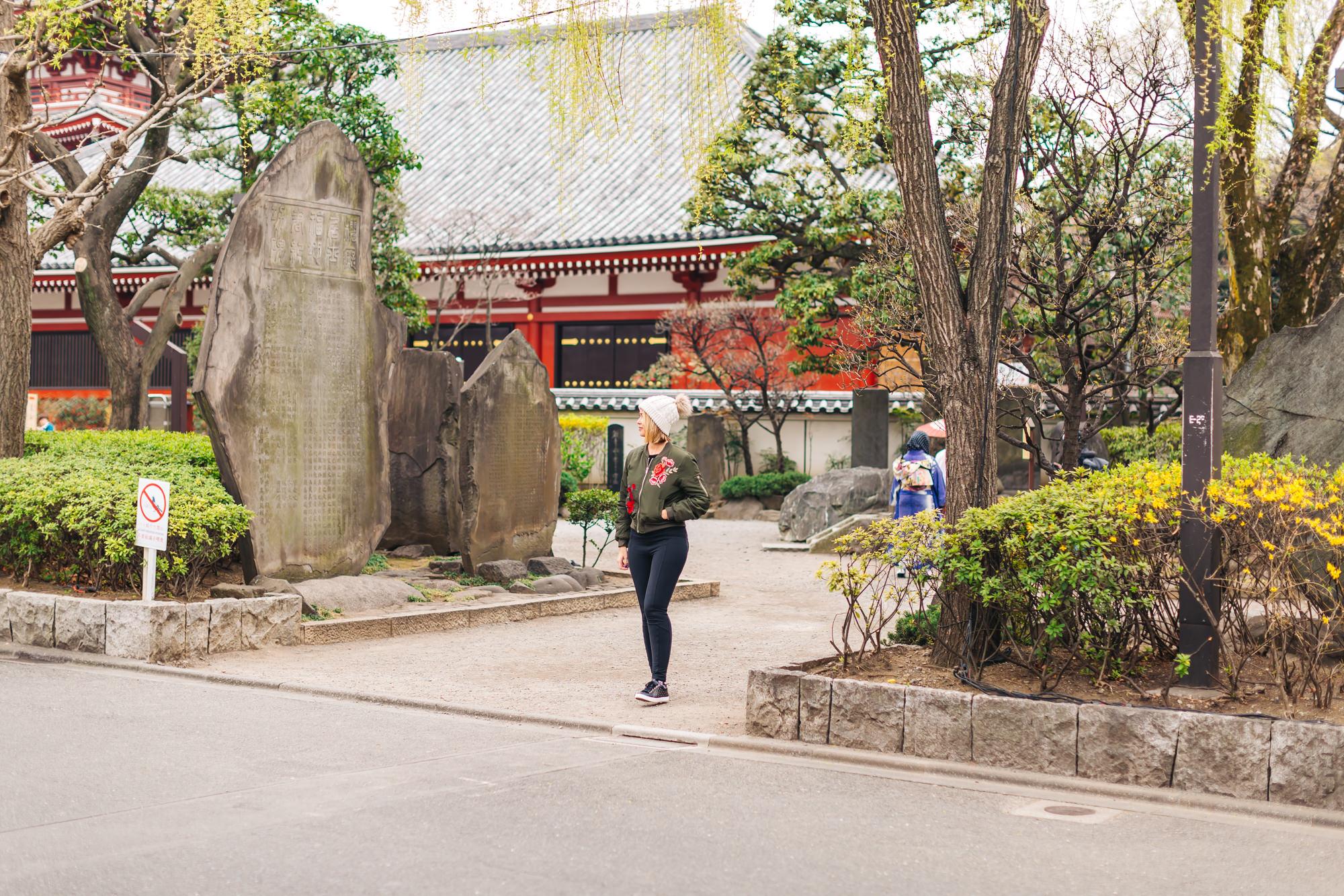 Garden near the Sensoji Temple
