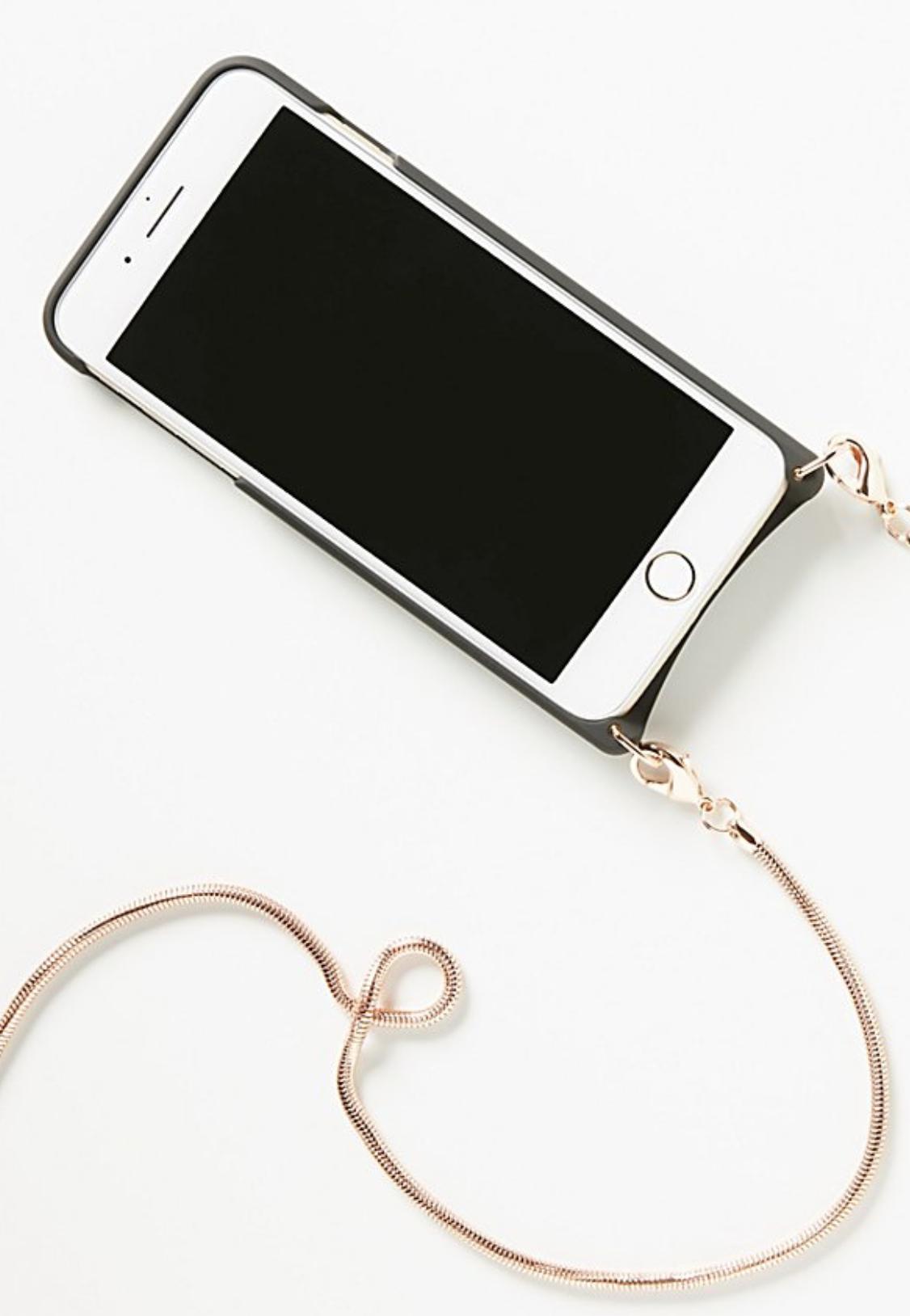Bandolier Phone Case Gold Strap