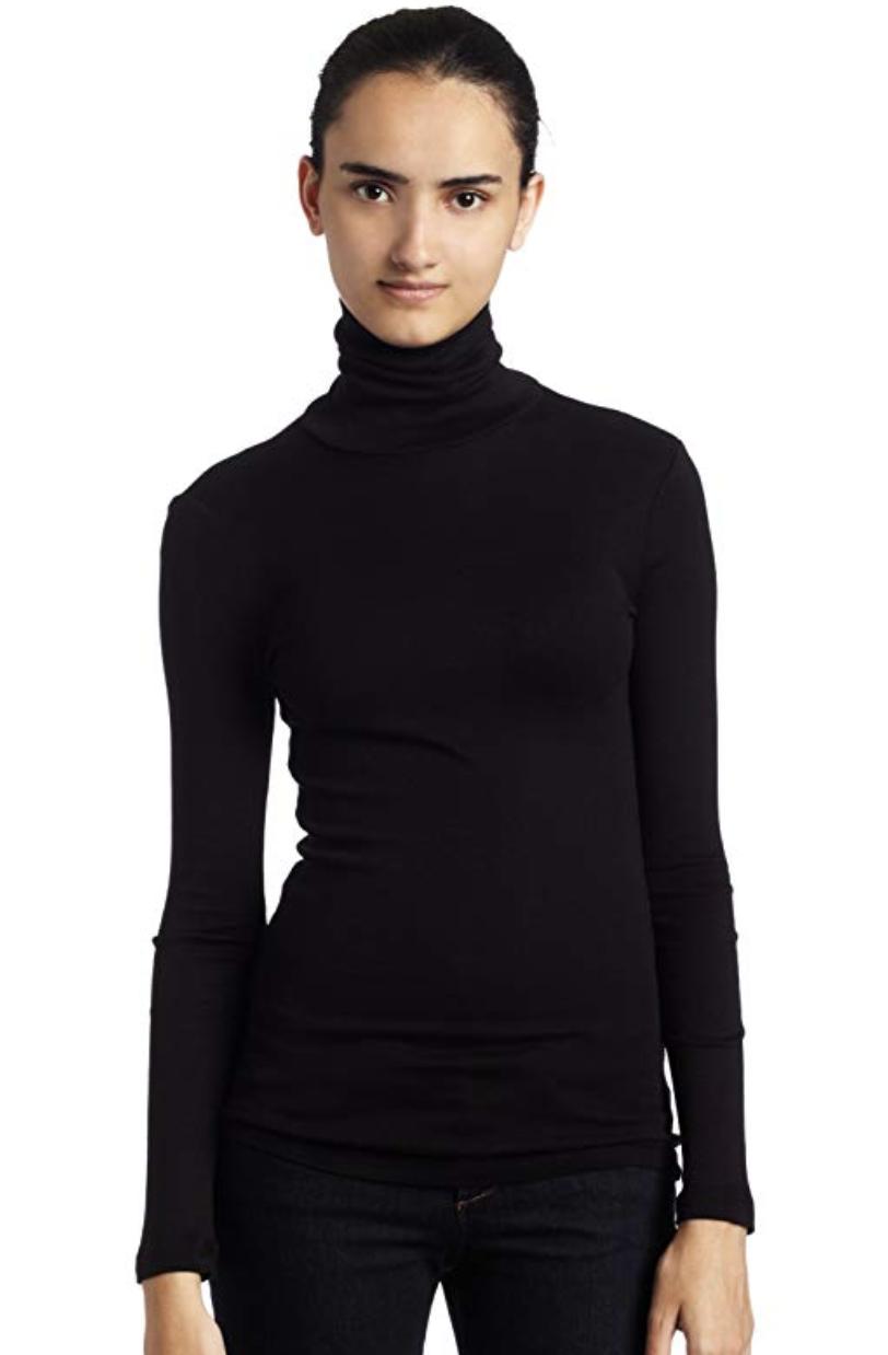 Black Long Sleeve Turtle Neck Sweater