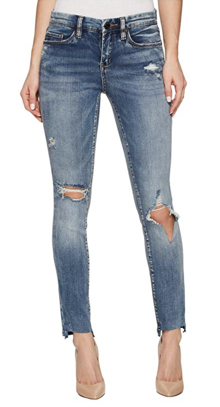Blank NYC Crop Distressed Denim