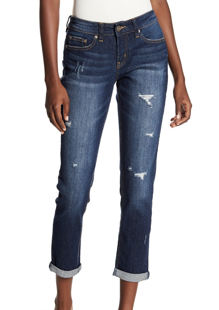 Union Bay Marni Distressed Skinny Ankle Jeans