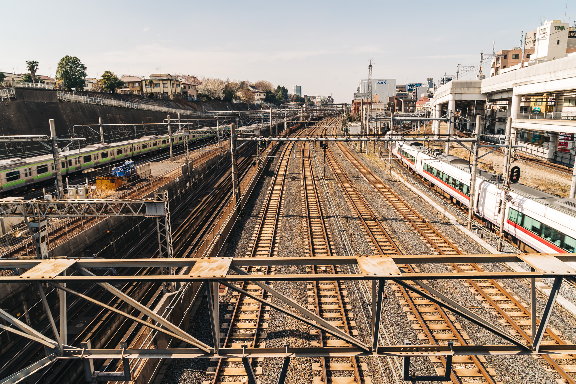 Train tracks at Nippori Station