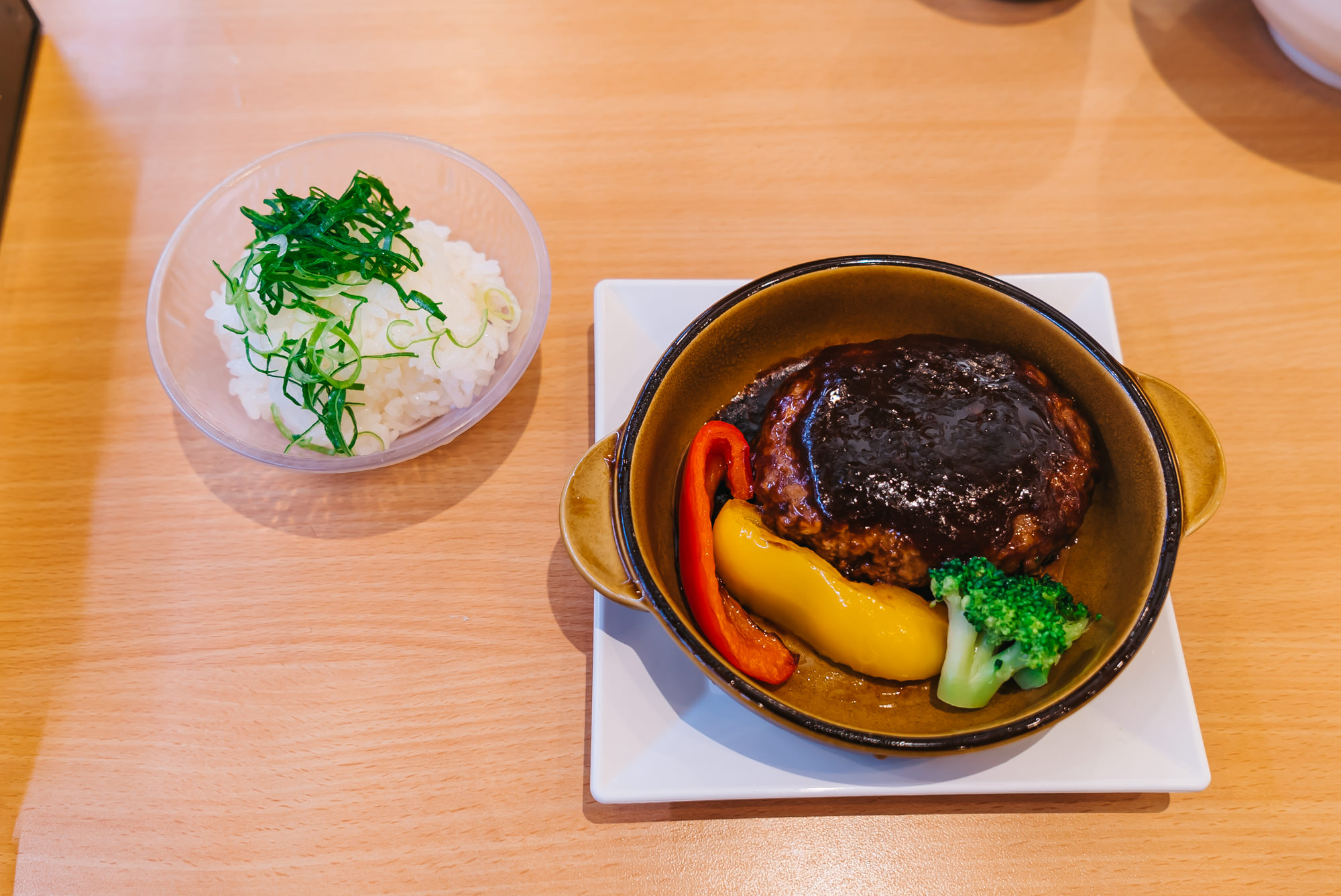 Japanese Hamburger Steak with Veggies