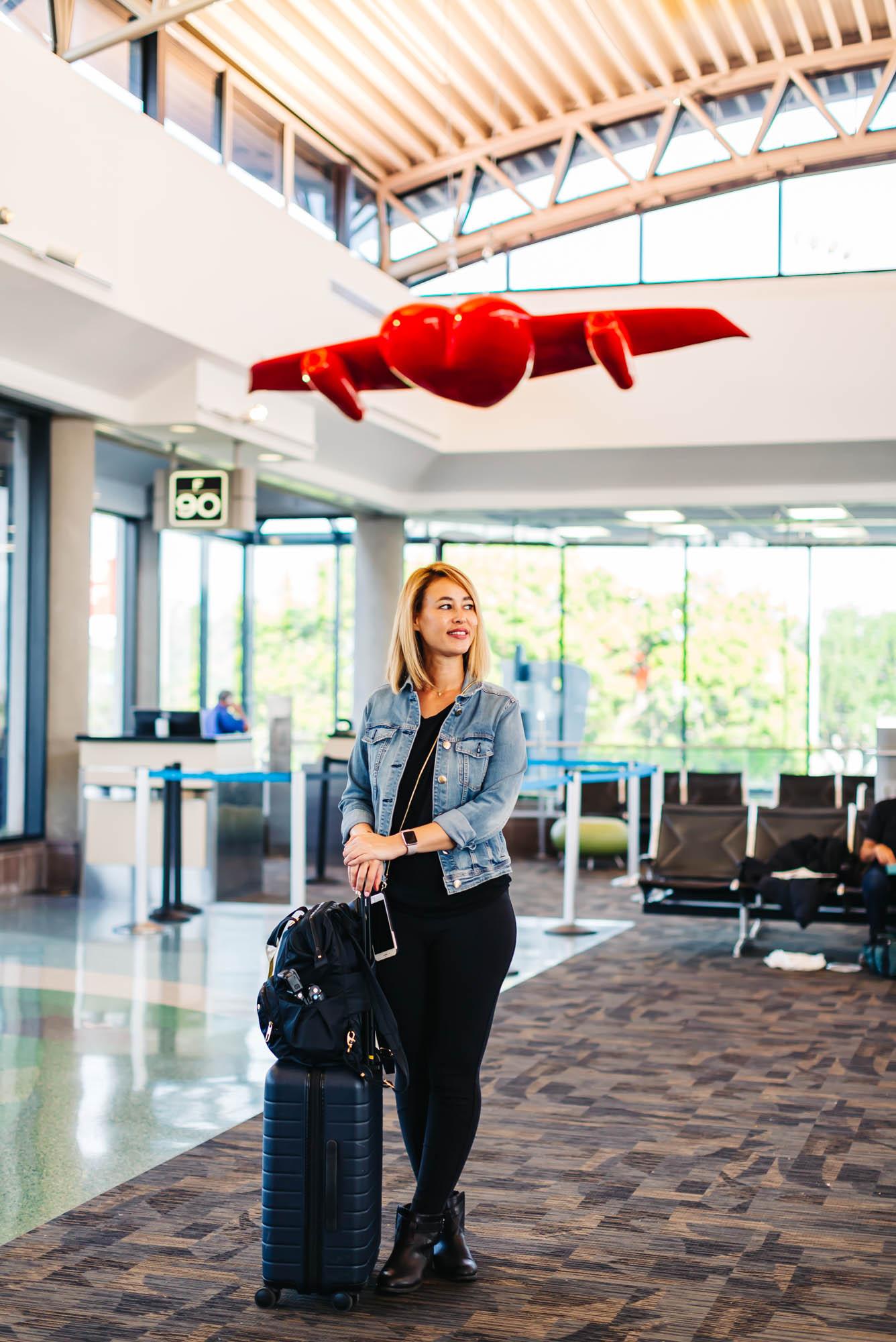 Away Bigger Carry on Suitcase   \\   Pacsafe Anti-theft Book bag
