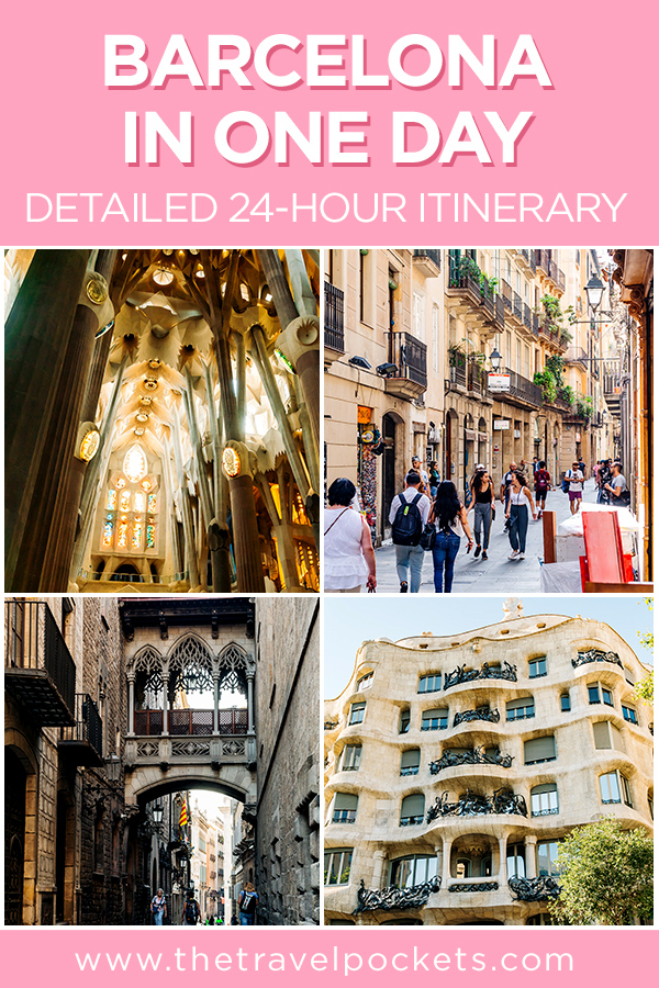 Barcelona in One Day #Spain #Barcelona #24Hours