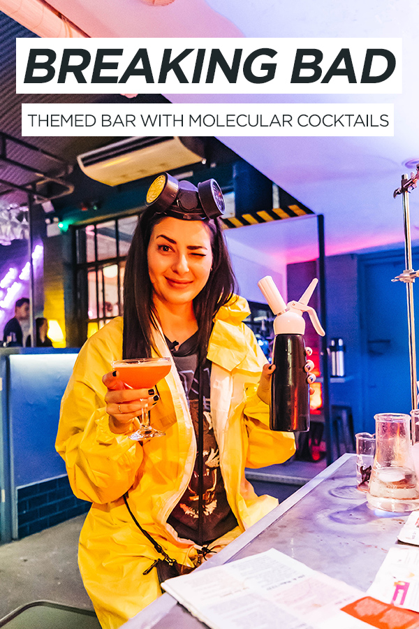 ABQ London Breaking Bad Themed Bar #BreakingBad #London #molecularcocktails