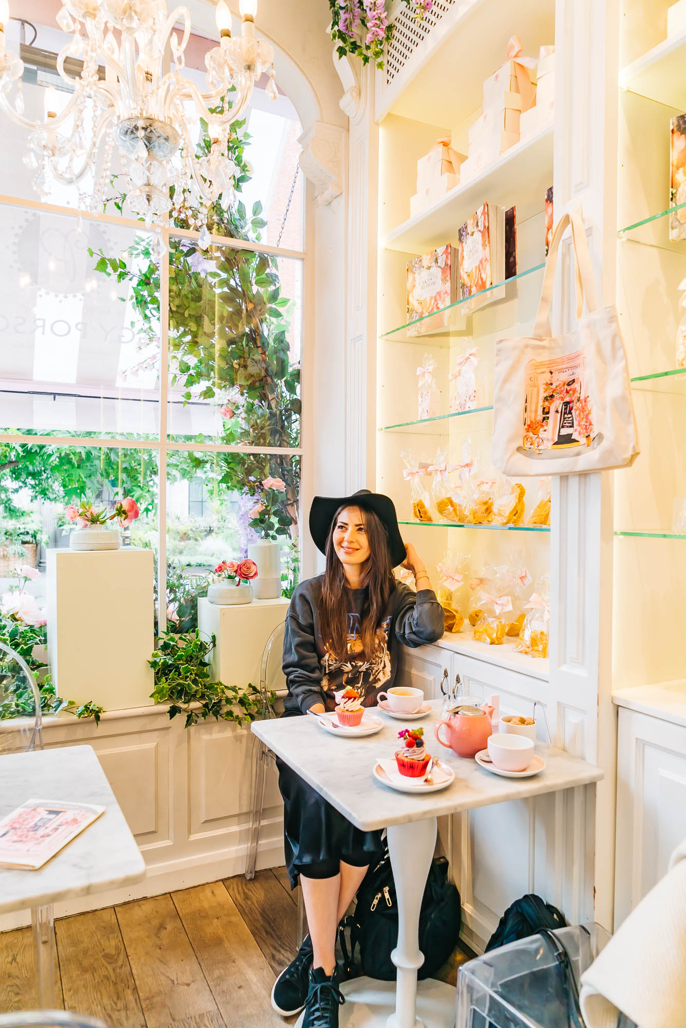Such a cute cafe at Peggy Porschen in London