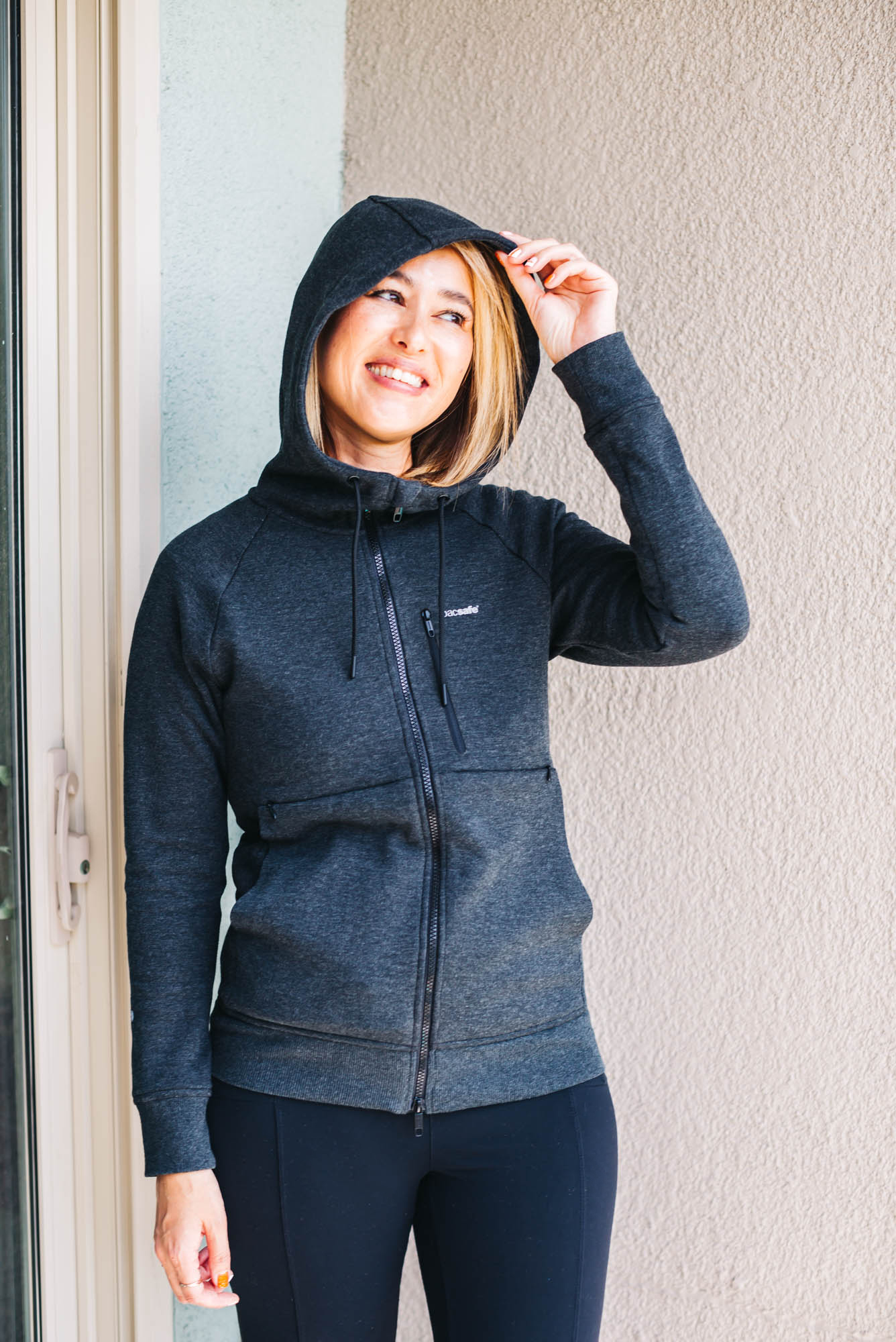 an versatile hoodie that can be used as an eye-mask