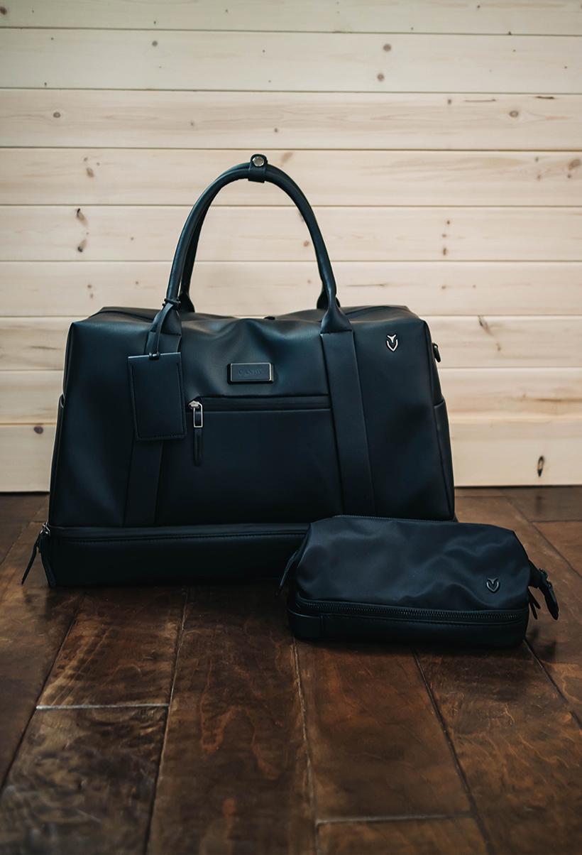 Vessel signature 2.0 Boston Bag & skyline Toiletry Bag in Black