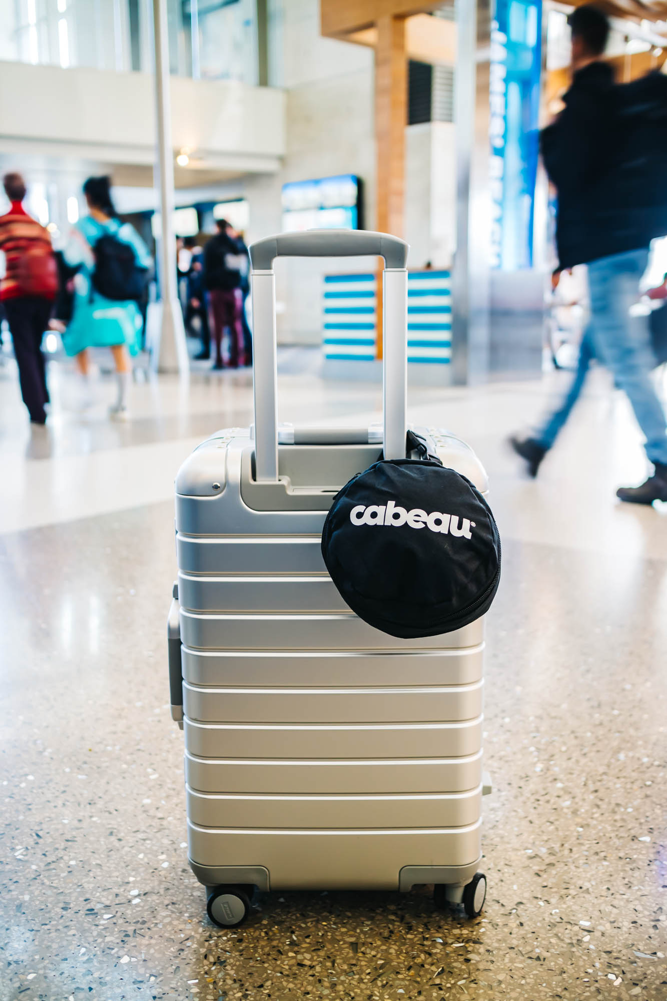Attach the bag to your carry-on for easy transport