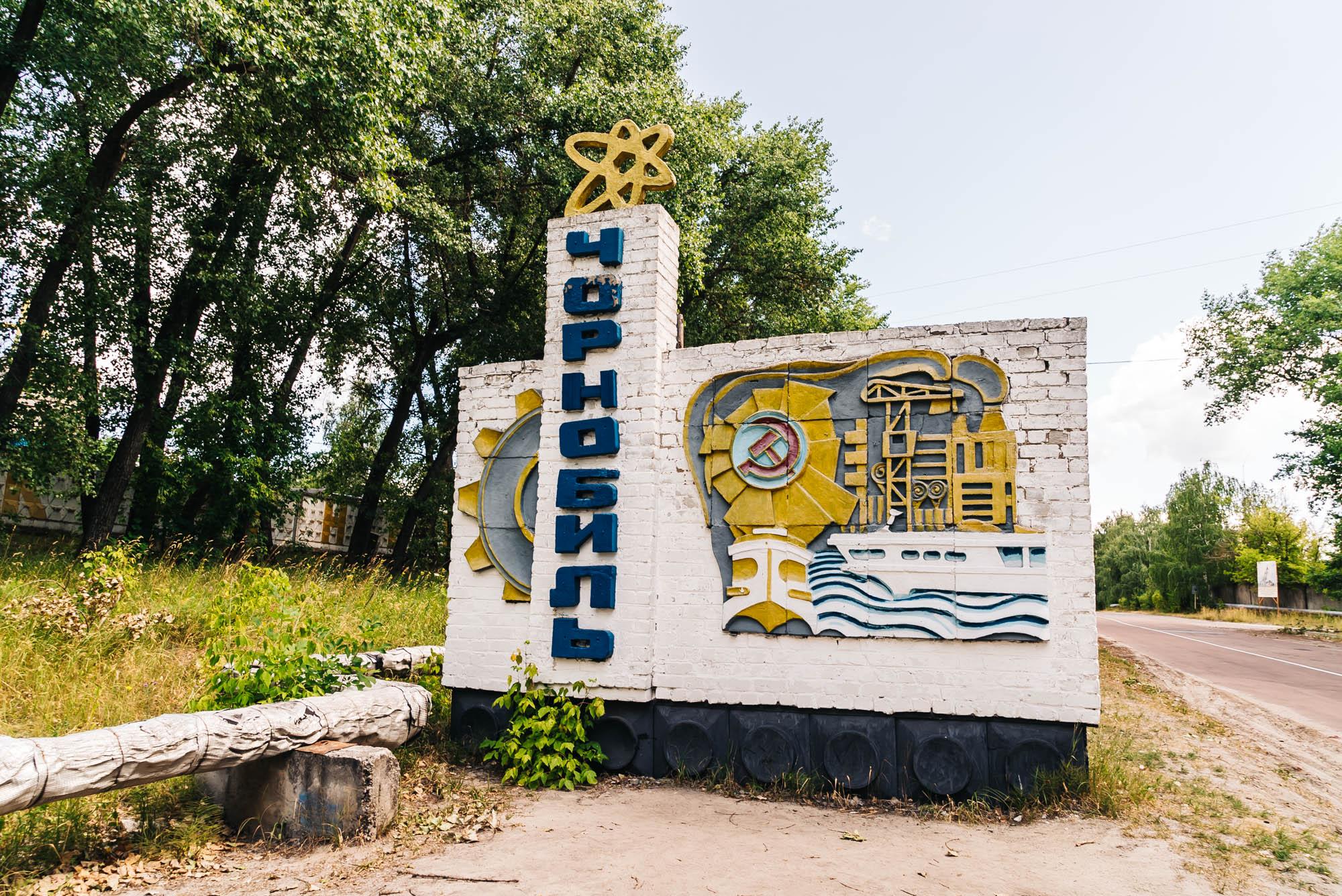 Chernobyl entrance sign