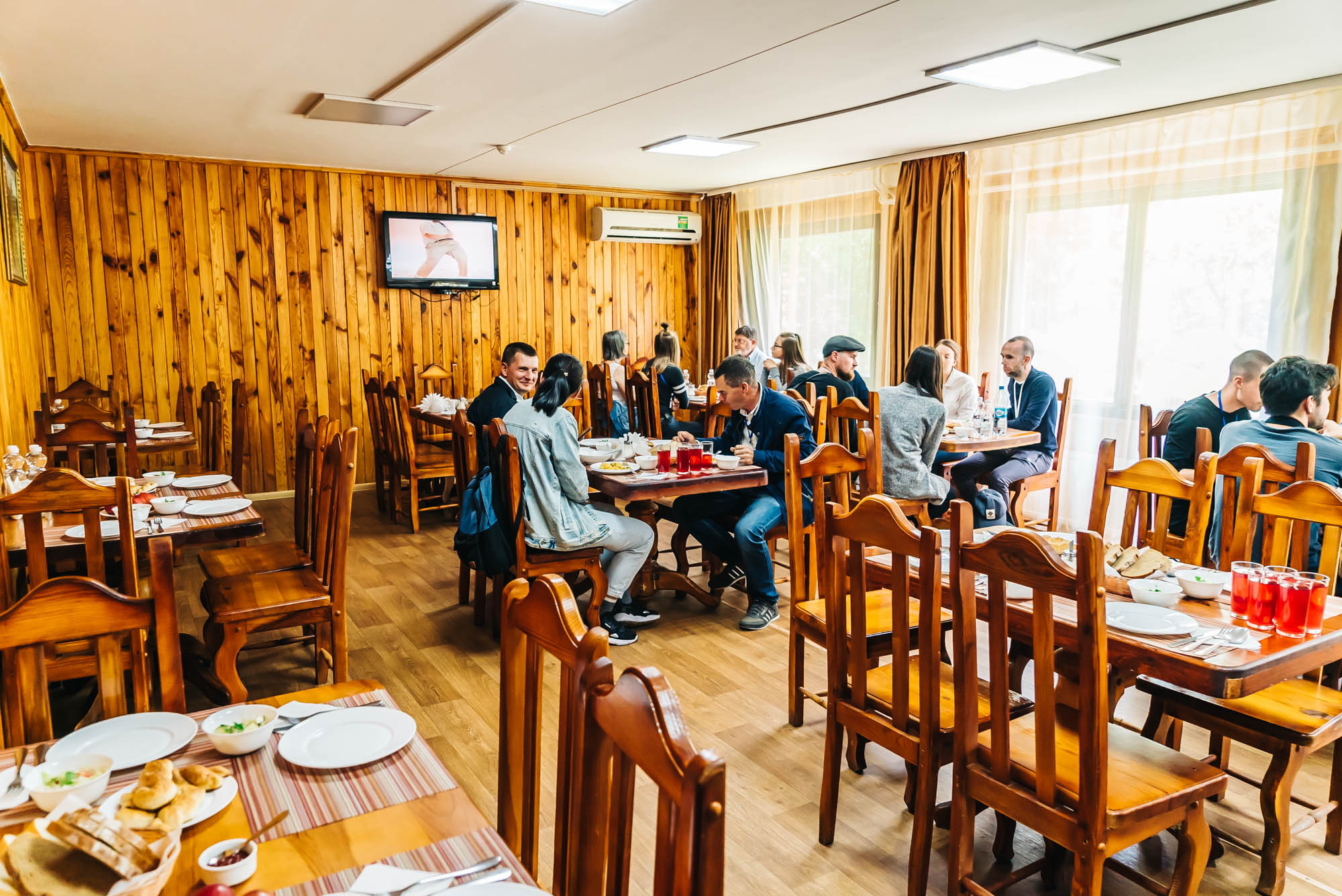 Lunch at a cafe in Chernobyl