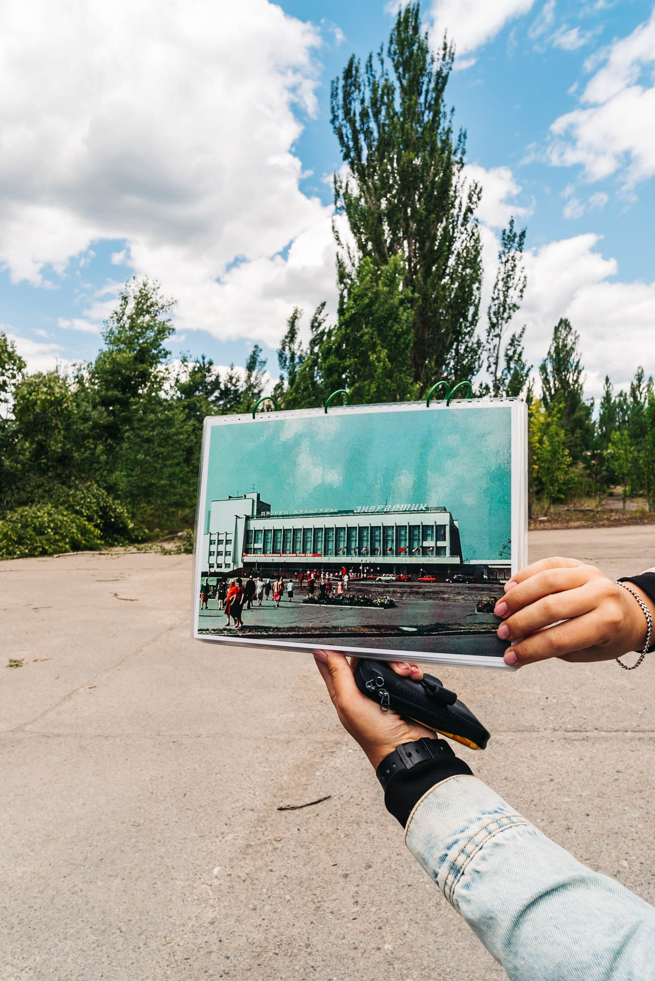 Tanya showing us pictures of Pripyat before the catastrophe