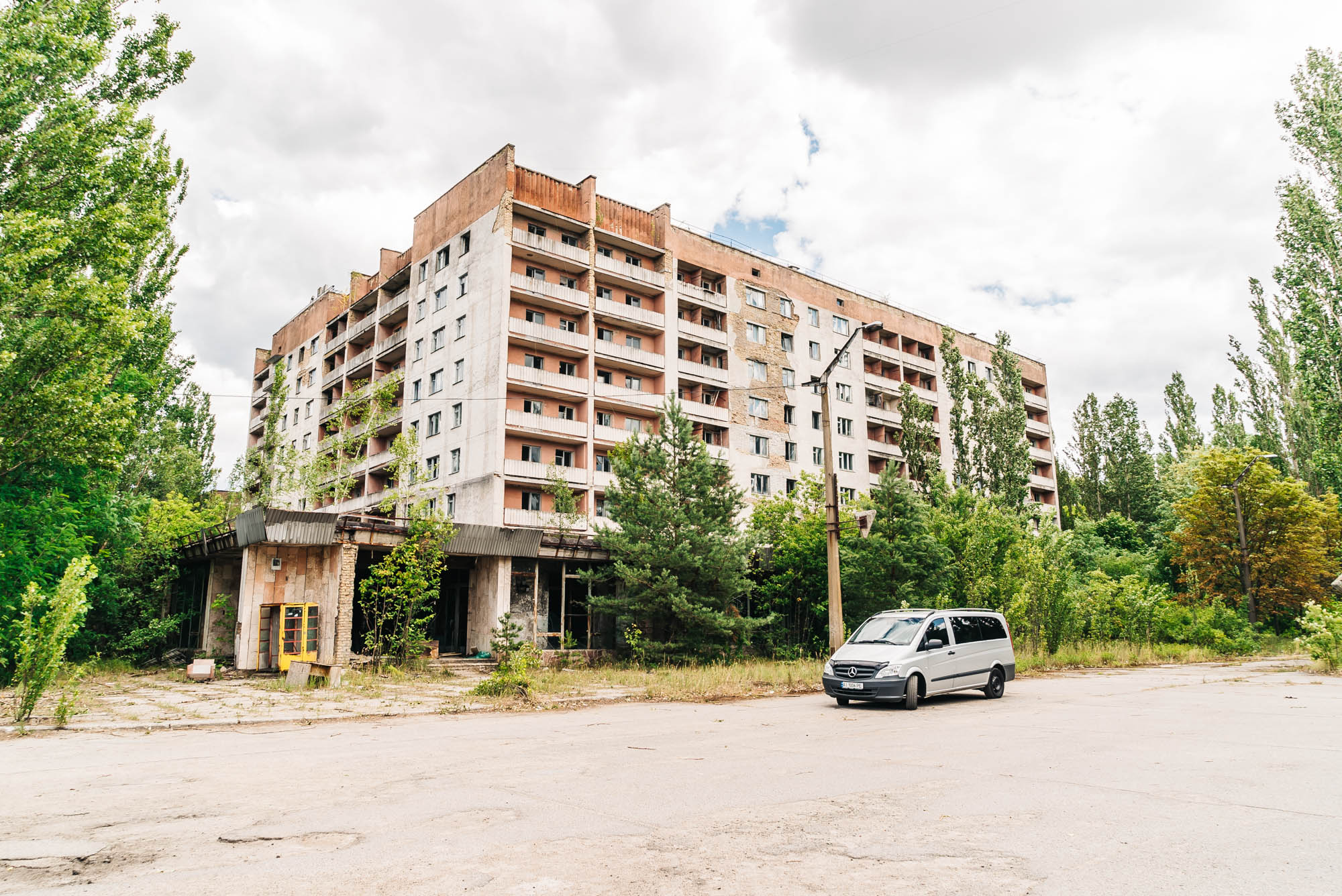 Abandoned apartment building of Pripyat