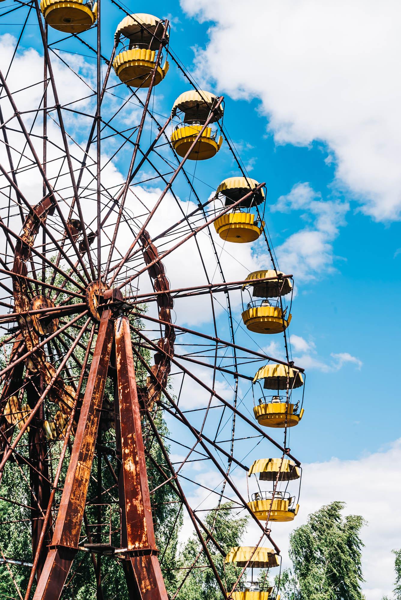 The iconic ferris wheel of Pripyat