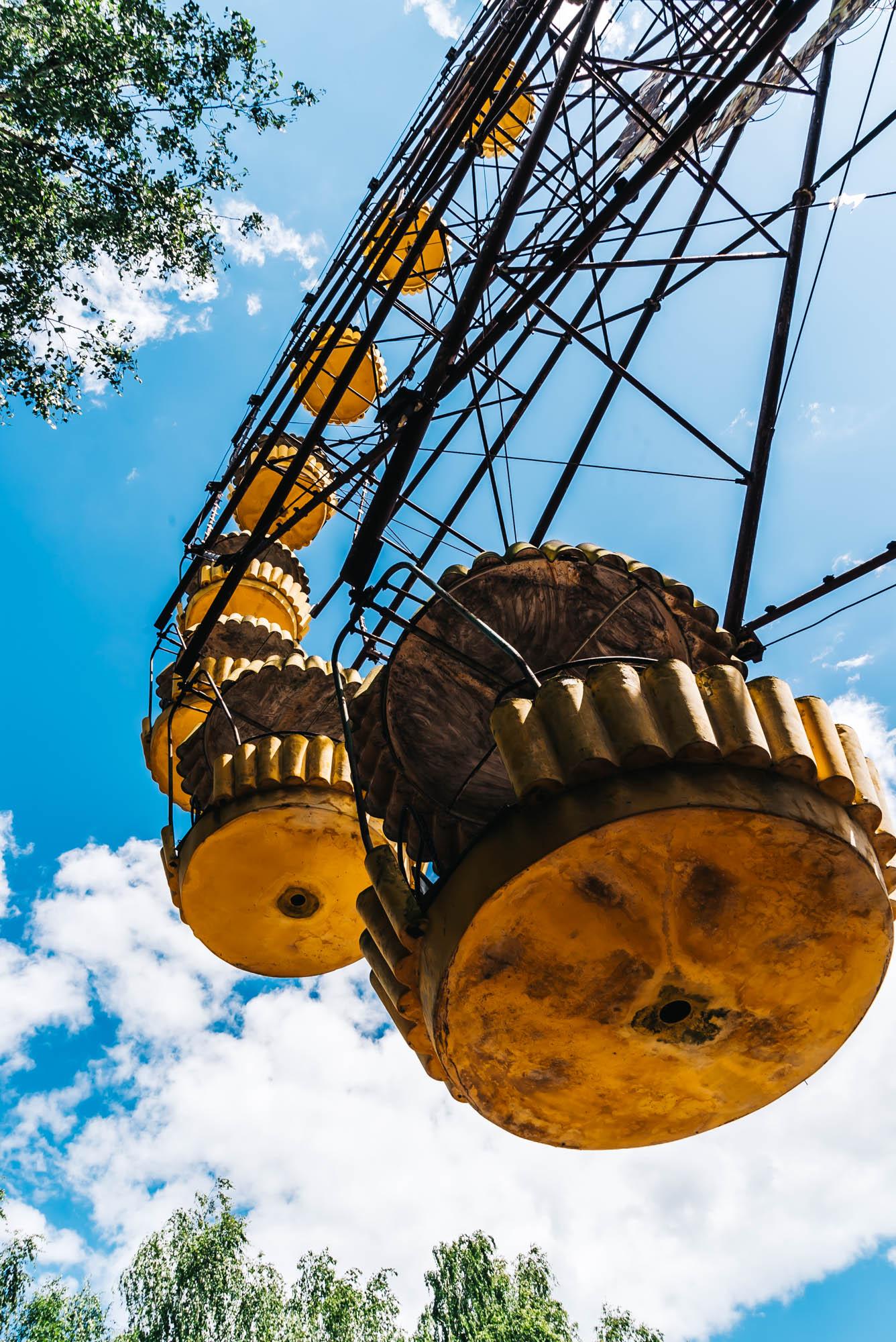 Radioactive cabins of the ferris wheel