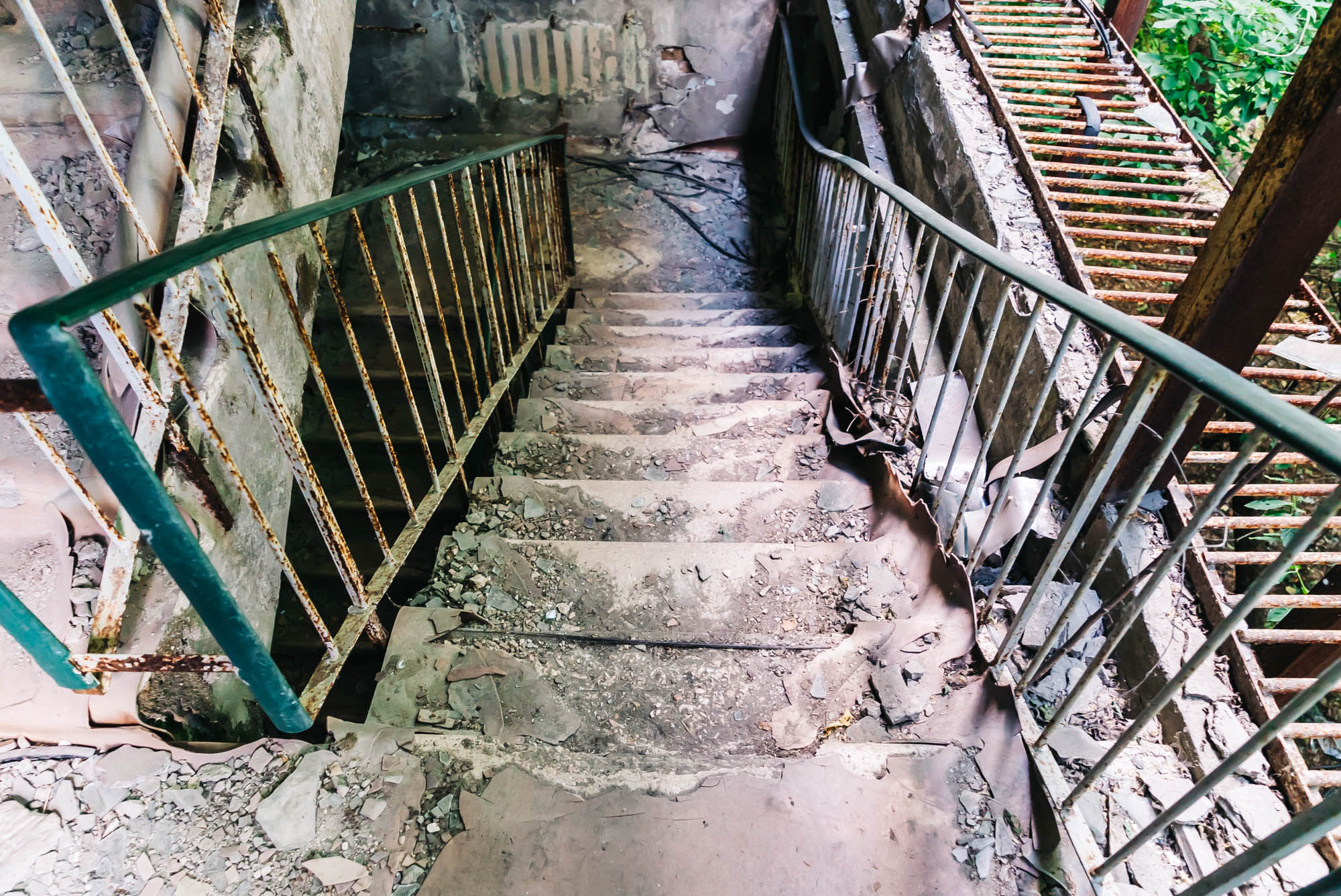 Going up and down these old stairs was a little frightening