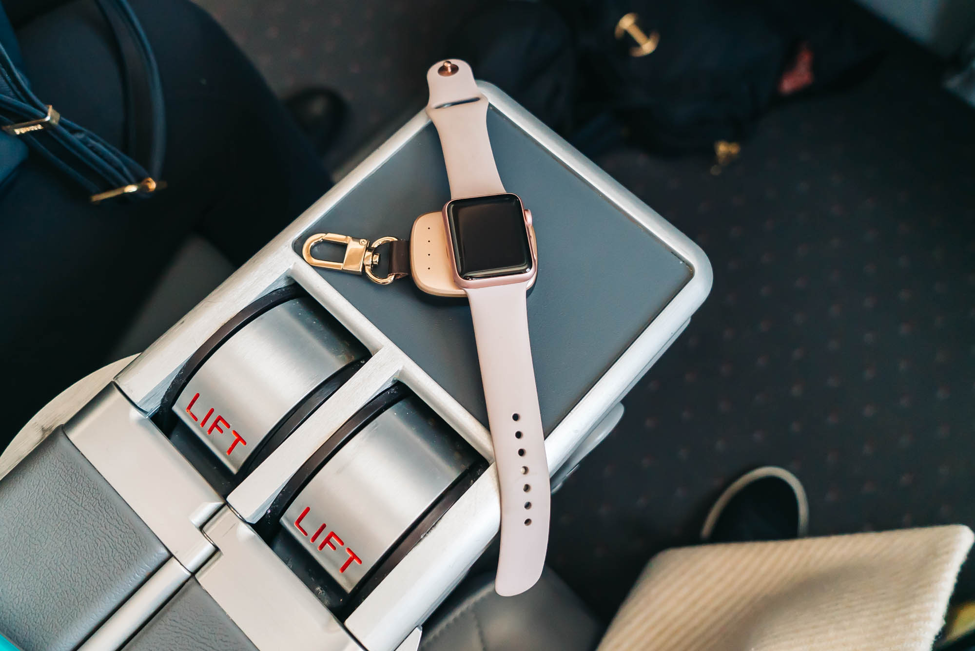 I use this portable Apple watch charger on the daily as well
