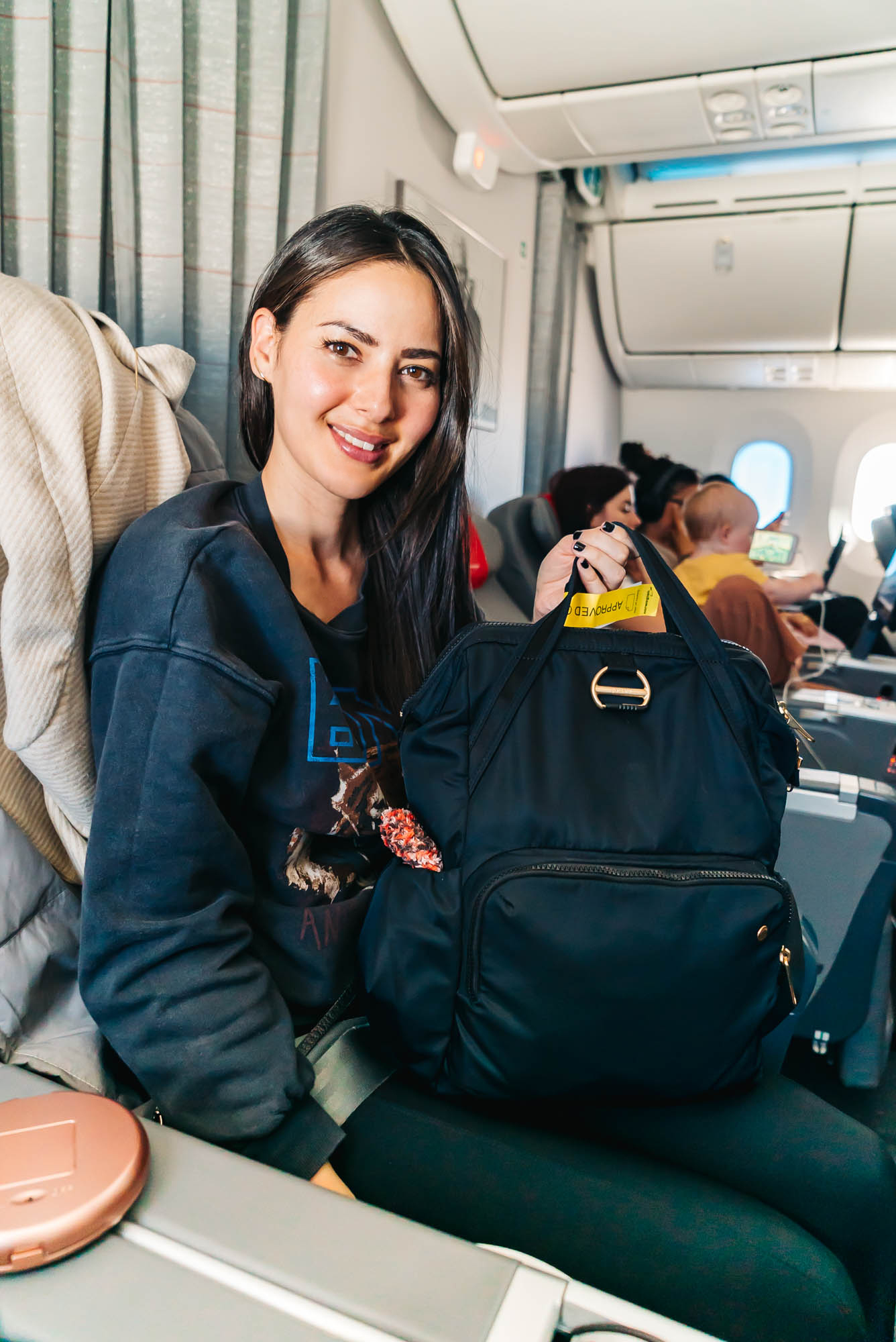 We always take our  Pacsafe Anti-theft Backpack  with us on our travels