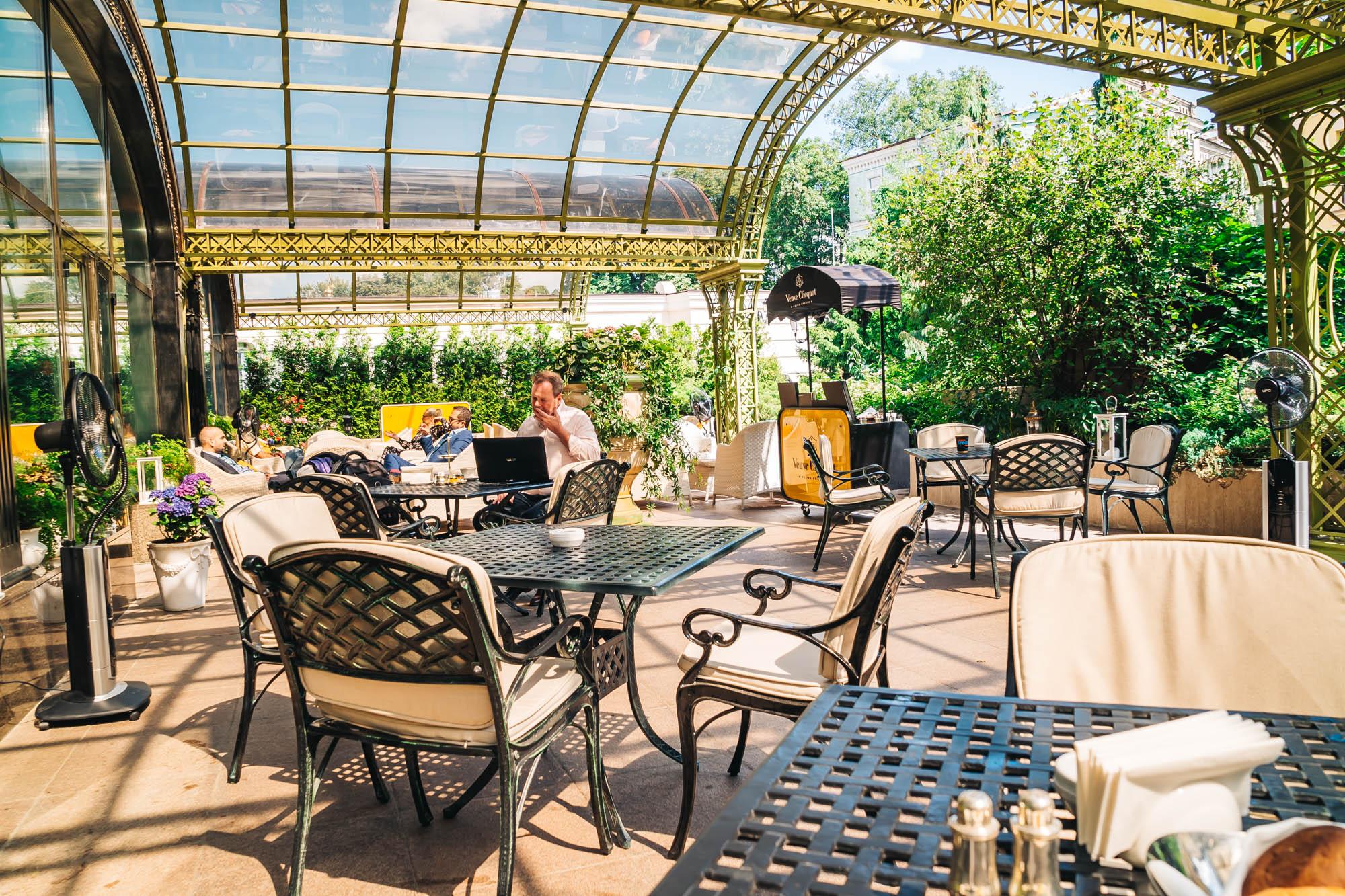 Lovely terrace where I enjoyed my brunch and dinner