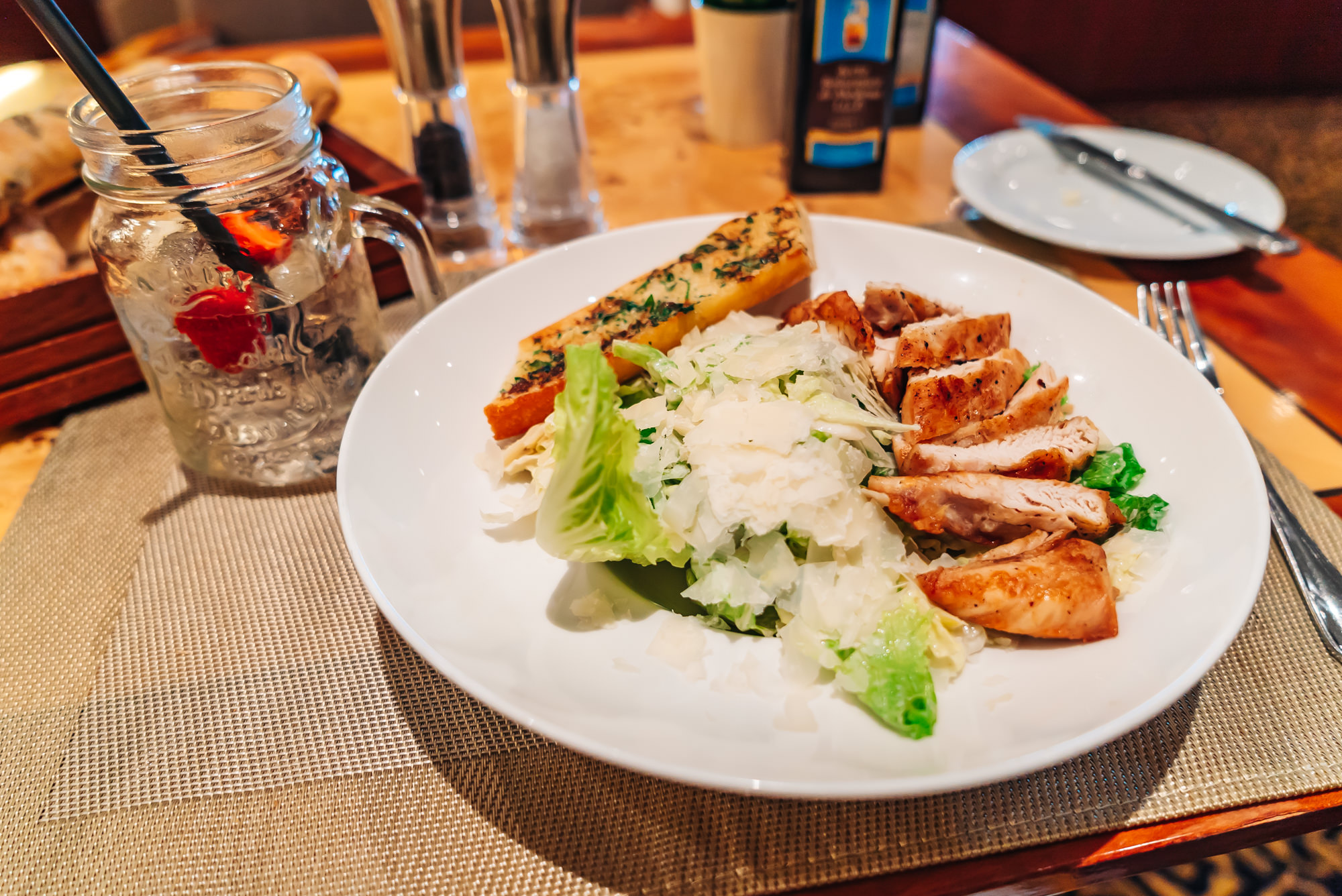 Chicken Caesar Salad at Duke's Bar & Cafe