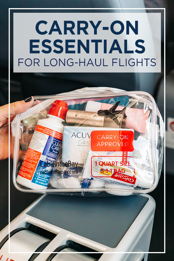 Carry On Essentials for Long Flights #carryon #longflights #travel