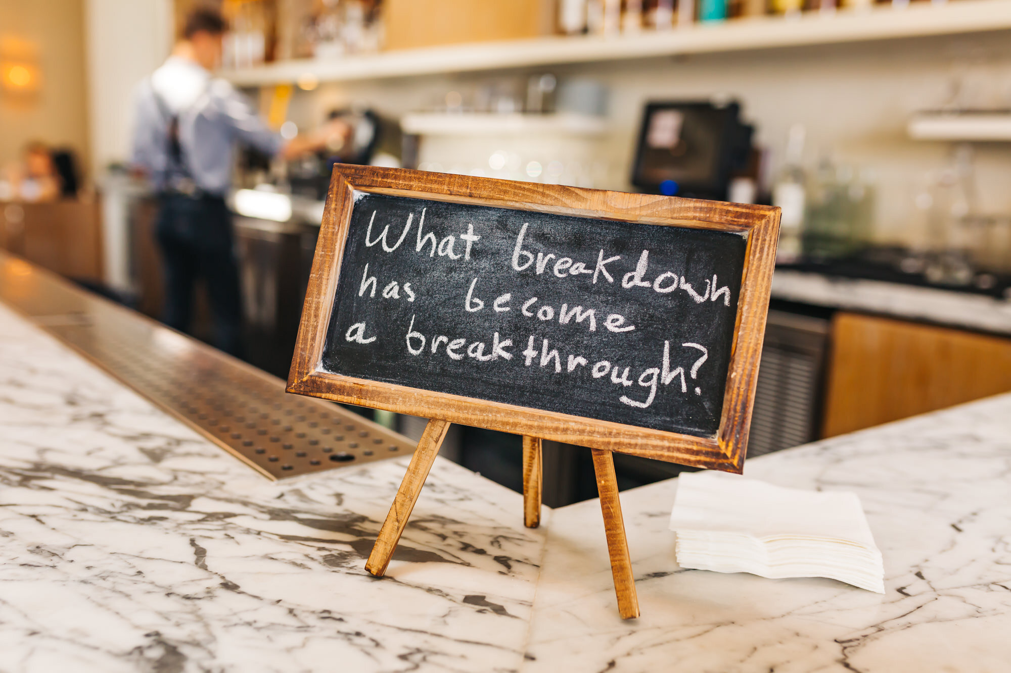 Question of the day: What breakdown has become a breakthrough?