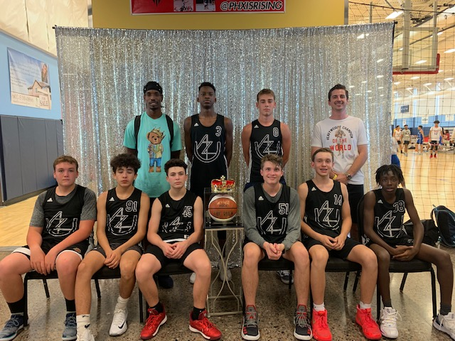 14u wins the Phx Is Rising - King of the Rock Tournament with a twenty point victory in the championship game. (7/21/19)