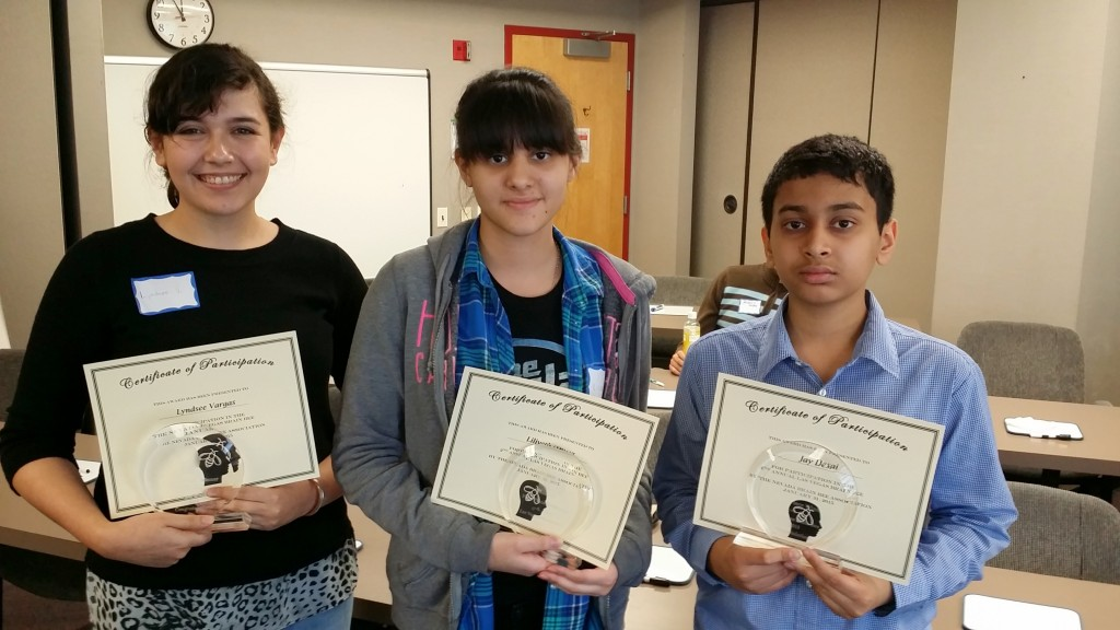 2015 Winners (from left to right): Lyndsee (2nd place), Liliveth (1st place), Jay (3rd place)