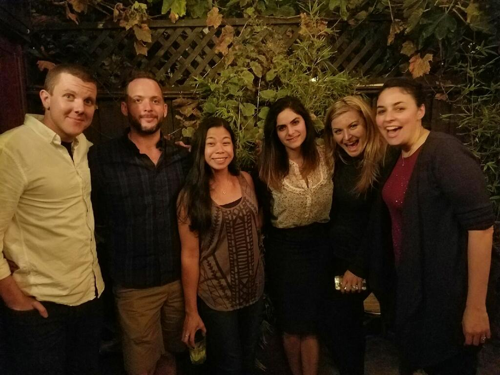 Michael Langhardt, Andrew Murtishaw, Christy Magcalas, Sheida Rabipour, Monica Bolton, Chelcie Heaney — all being great allies and supporting Andrew at the SfN LGBT Social that he hosts every year.