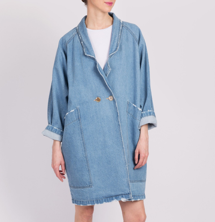 One O Eight Oversized Denim Coat