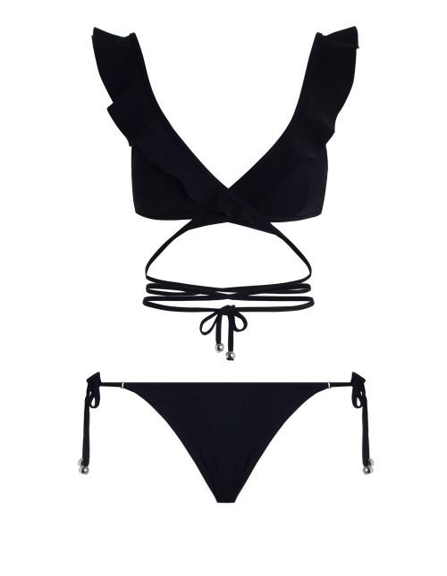 Zimmermann Caravan Frill Wrap Bikini