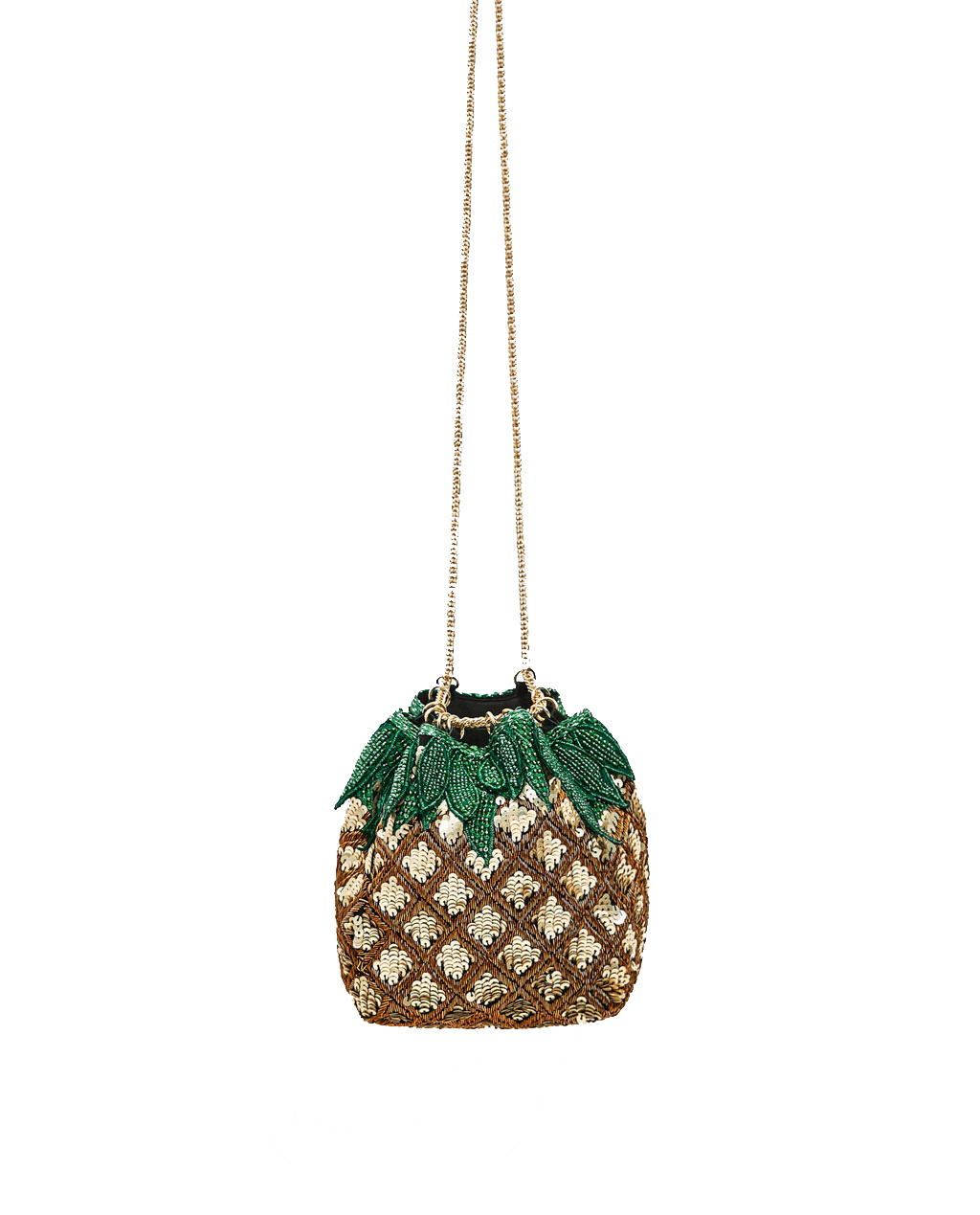 Zara Pineapple Bucket Bag