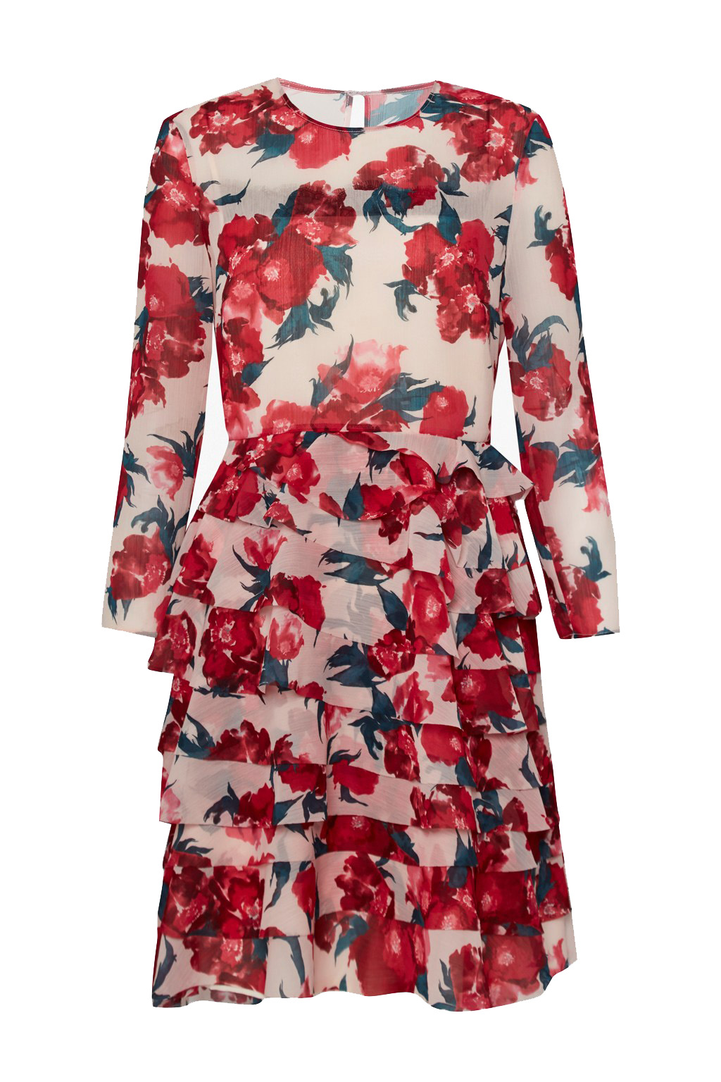 FRENCH CONNECTION ALLEGRO POPPY SHEER DRESS