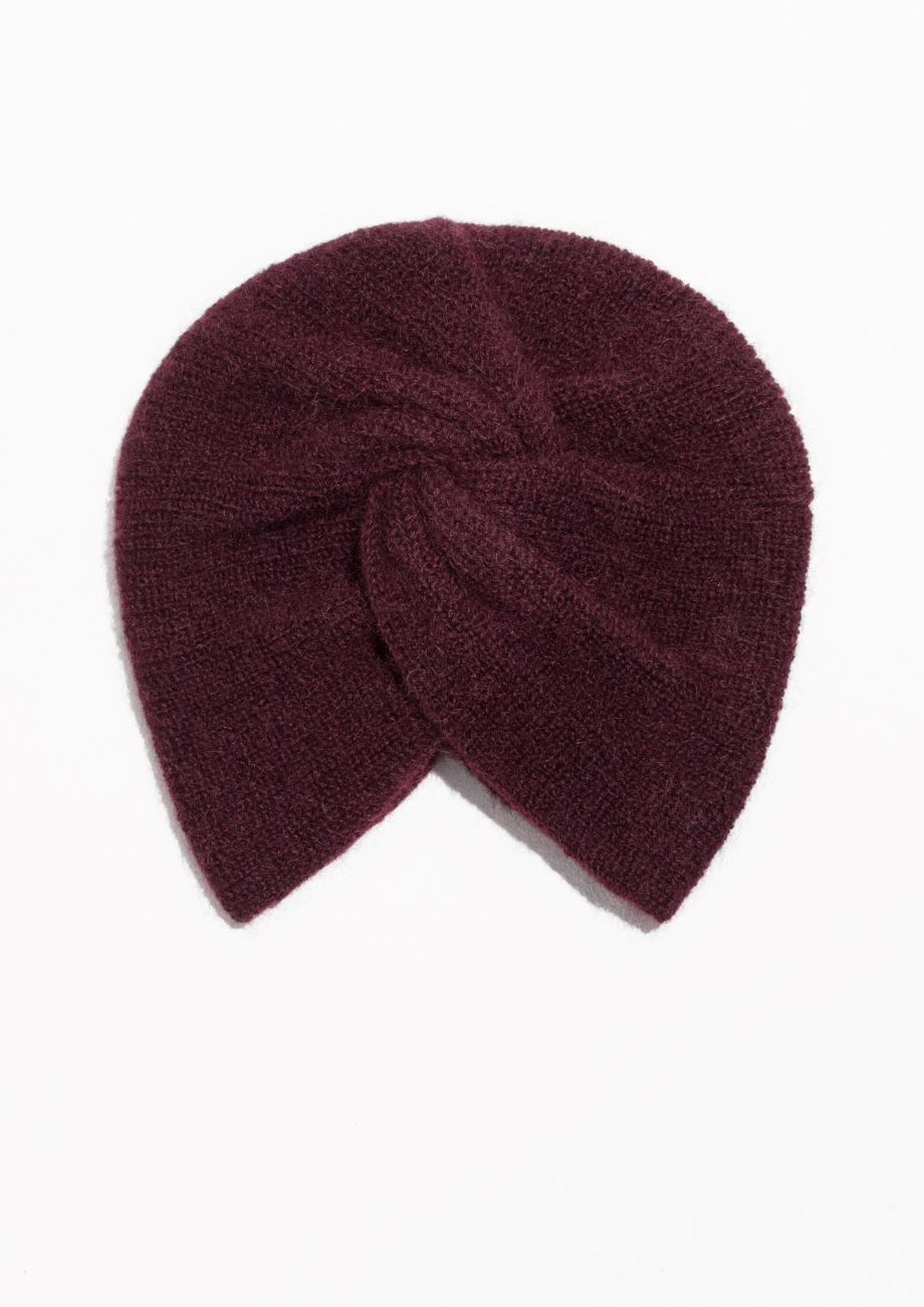 & Other Stories Twist Beanie in Mohair Blend