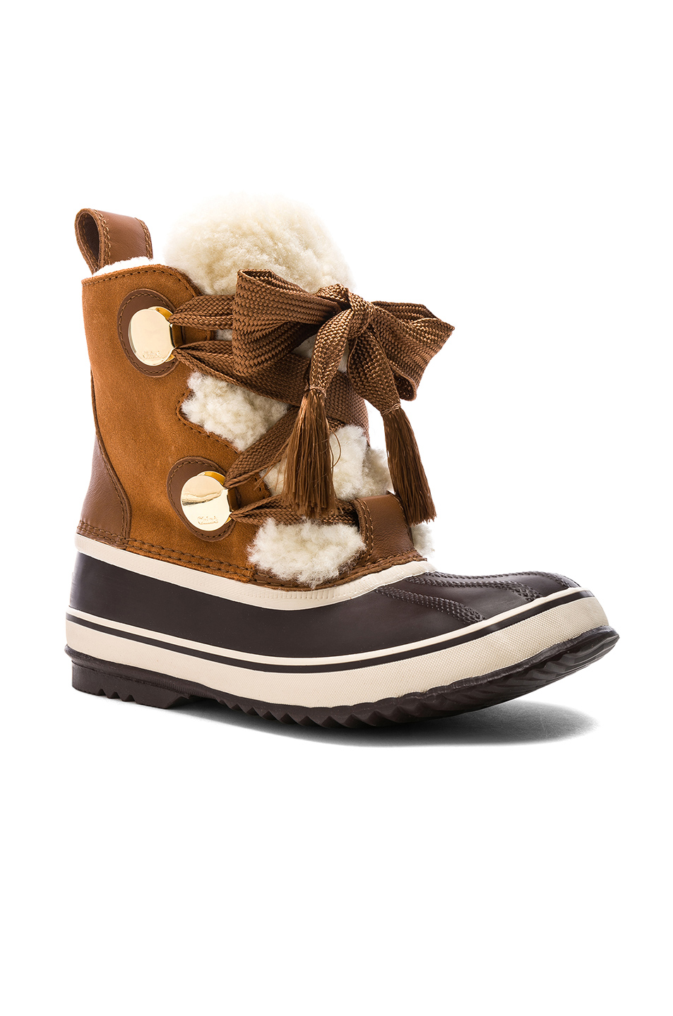 Chloe x Sorel Shearling & Suede Hiking Boots