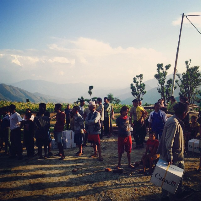Happy to be back in beautiful #Karmidanda today. Collaborated with the #SpanishRedCross and #NepalRedCross to deliver hygiene kits and a pretty cool hygiene promotion play to our locals. There were puppets. #NepalEarthquake #DisasterRelief #AllTheRedCrosses #ComeTogether #WASH #SafeSanitation #Education #EveryoneLovesPuppets