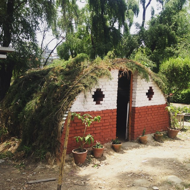 Went to visit the #TemporaryStructures exhibit at #PulchokEngineeringCampus in #Kathmandu today.  Pretty cool to see so many #innovative solutions to our little dilemma here. #NepalEarthquake #DisasterRelief #Inspired #Innovation #ItsNotAllBad #Bamboo #MudHut #Yurt #LetsDoThis