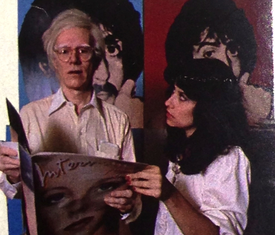 Andy Warhol and Colaciello at the Factory in NYC 1980