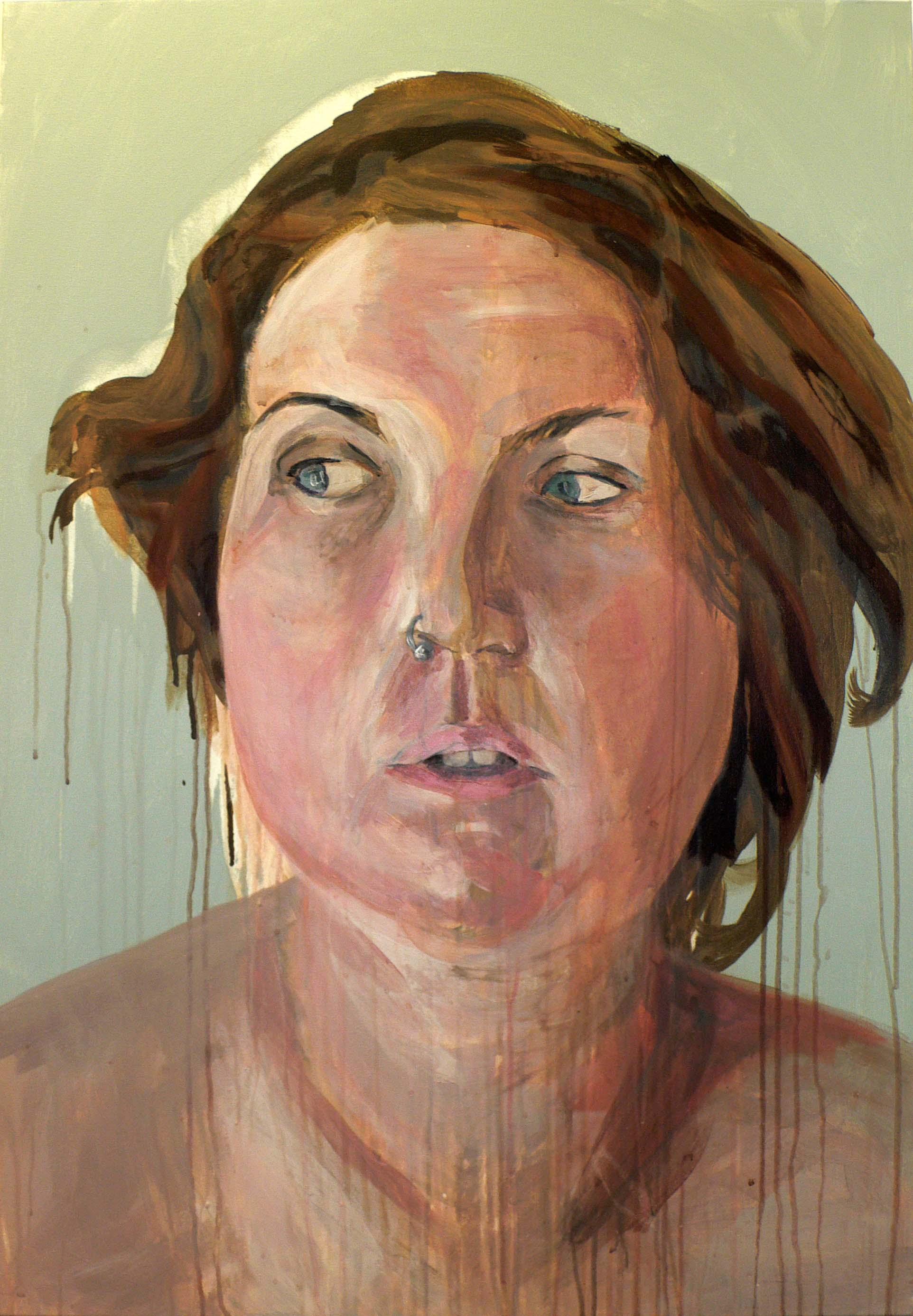 Self-portrait, Slough 7.30am