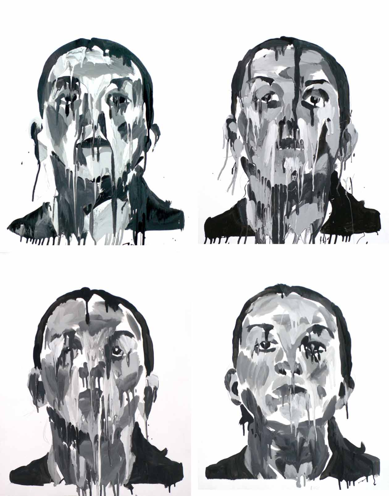 Sassoon Passport Self-portraits #1-4