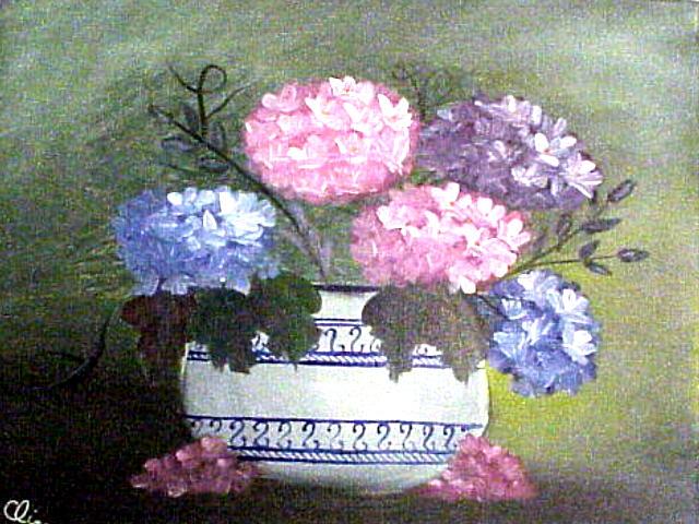 Hydrangeas in Pot
