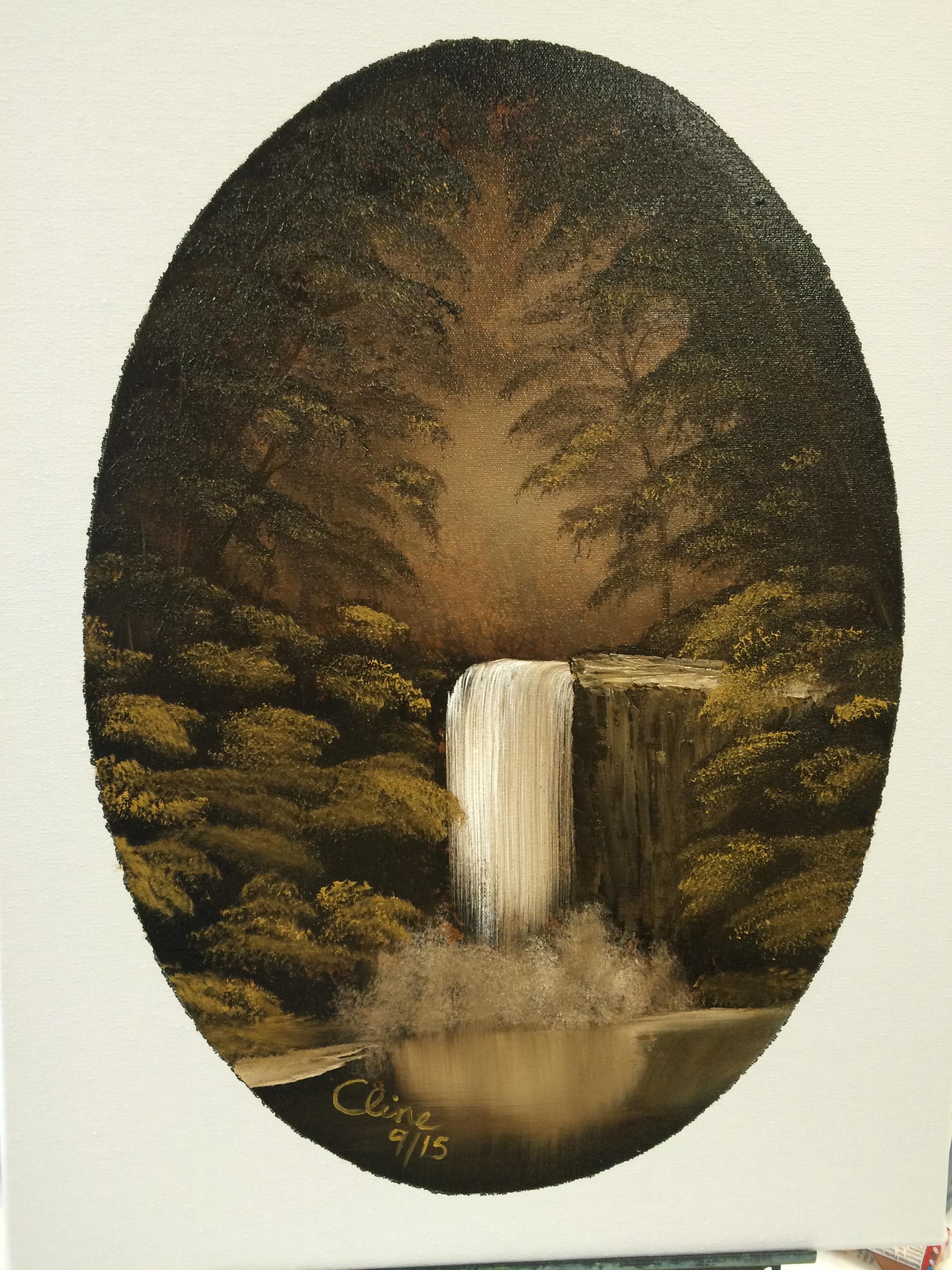 """Enchanted Falls Oval"""