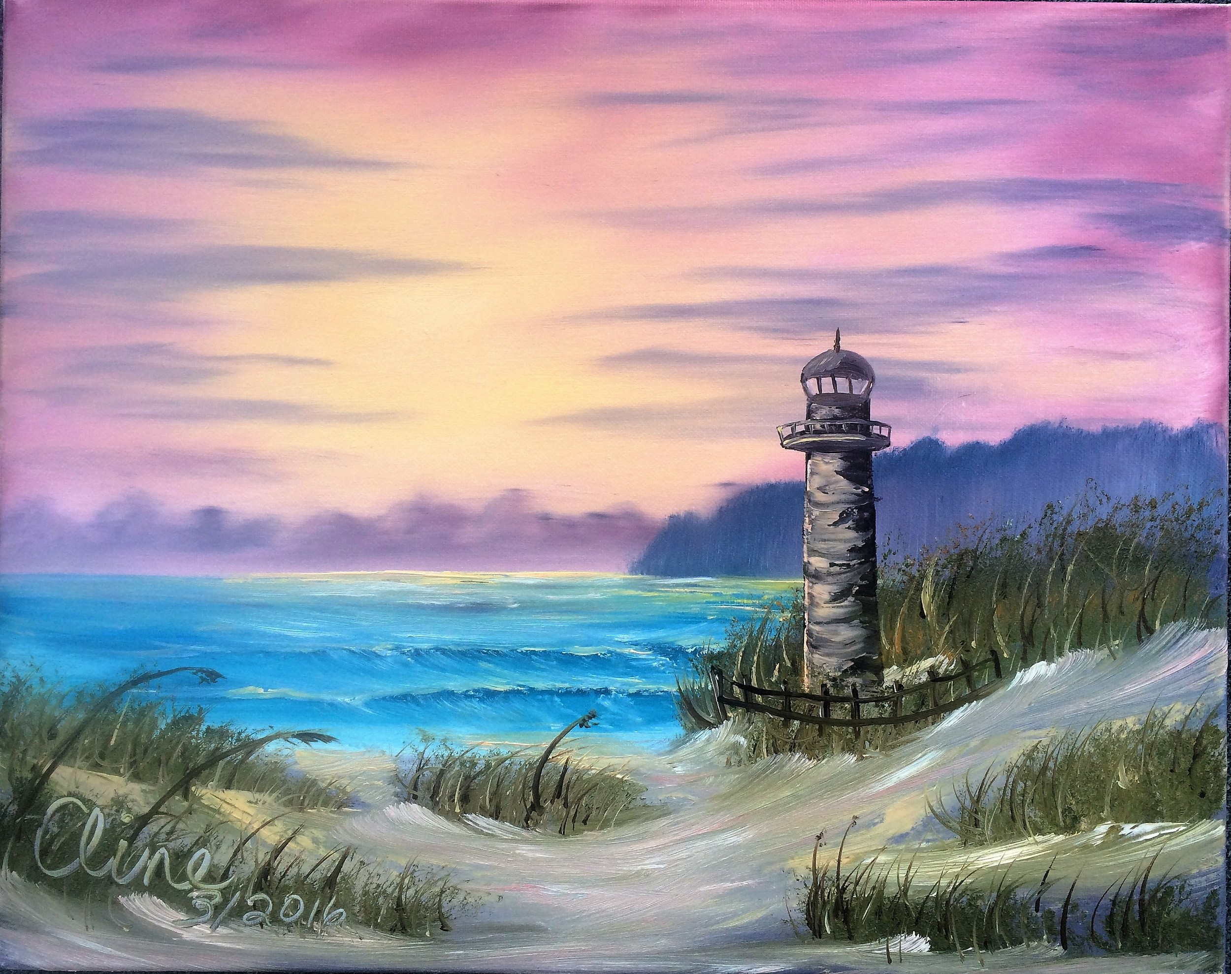 Seascape with Lighthouse 2