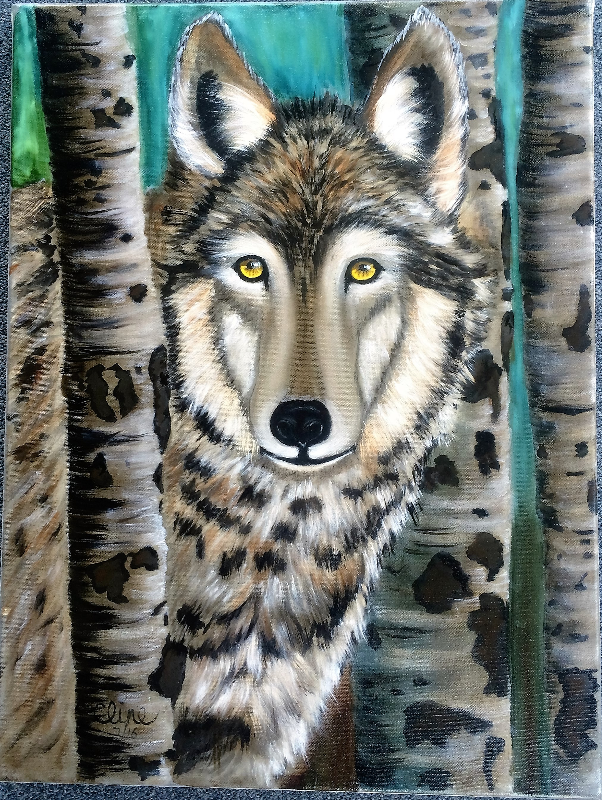 """Wolf in the Birches"""