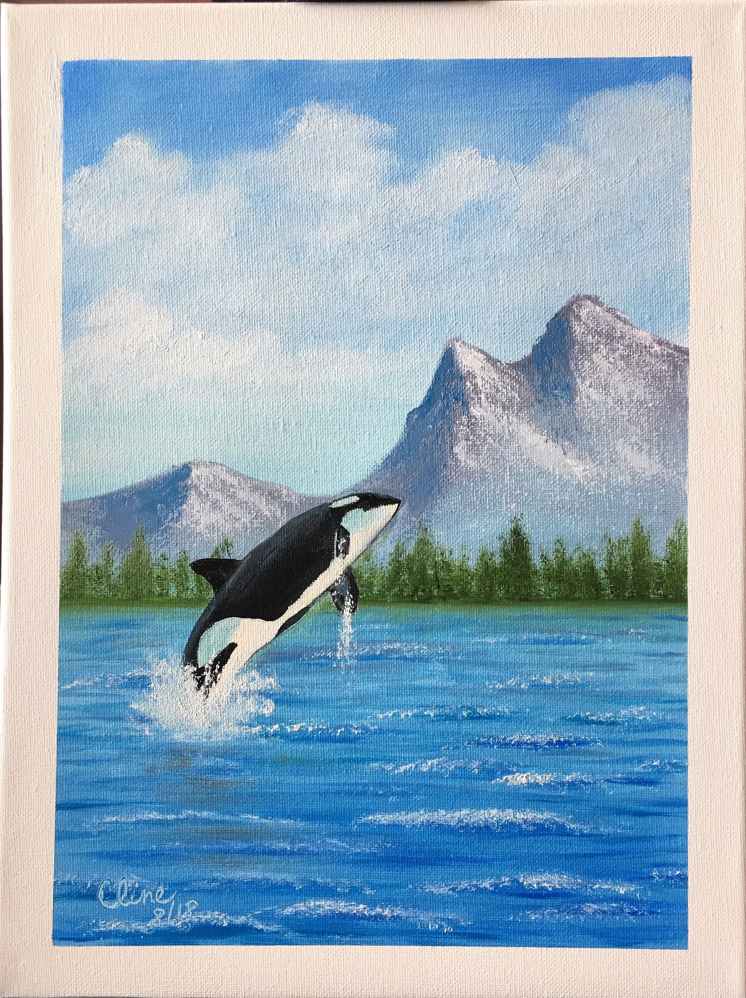 """Breaching Orca"""