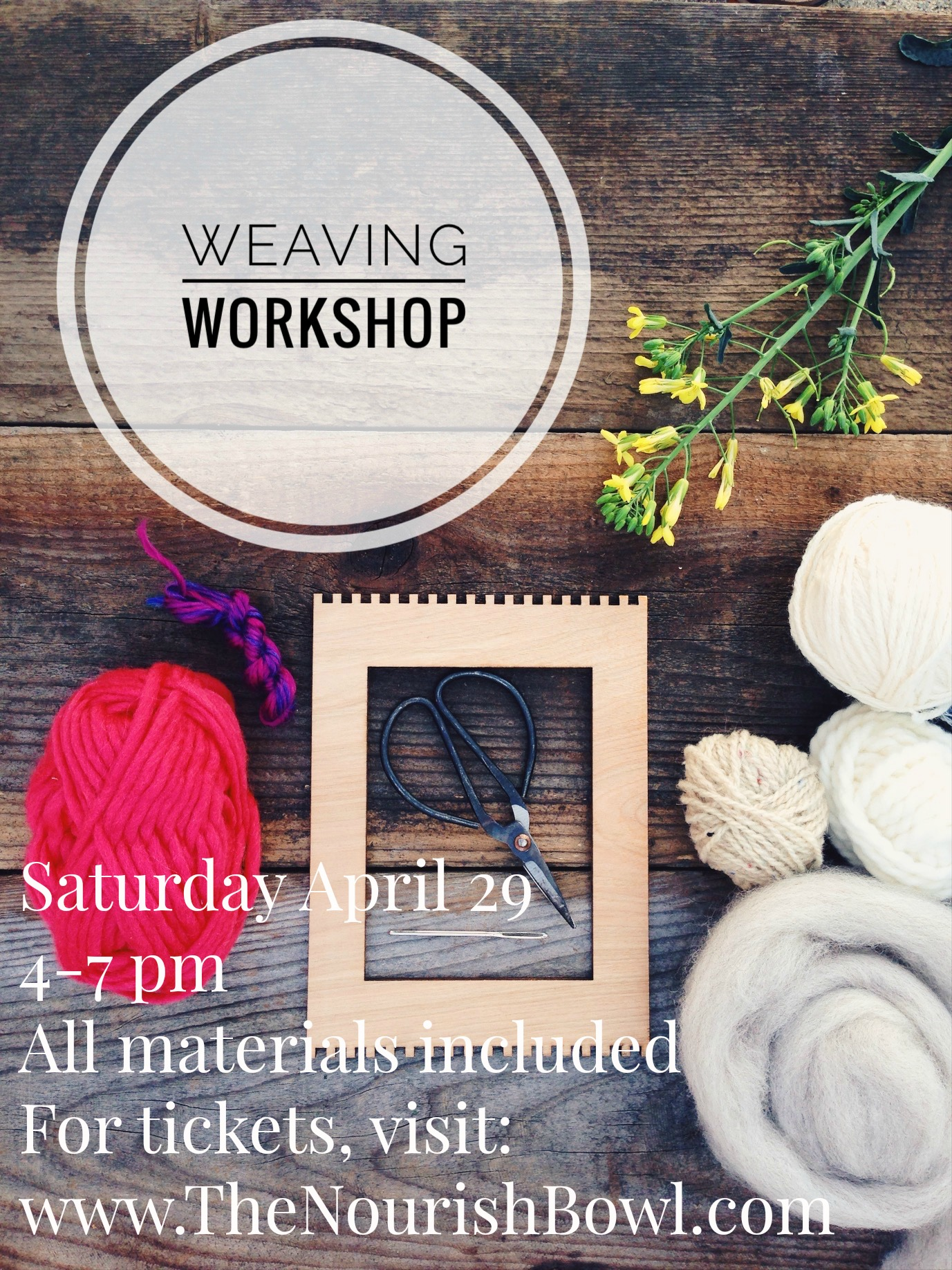 Join me at the super sweet  Wallflower Boutique  in downtown Santa Cruz for an evening of creative flow.  I've teamed up with  Santa Cruz Engraving Co.  to provide locally made bamboo looms that are gorgeous to work on. Support local business and get your craft on. Tickets available here--> Count me in!